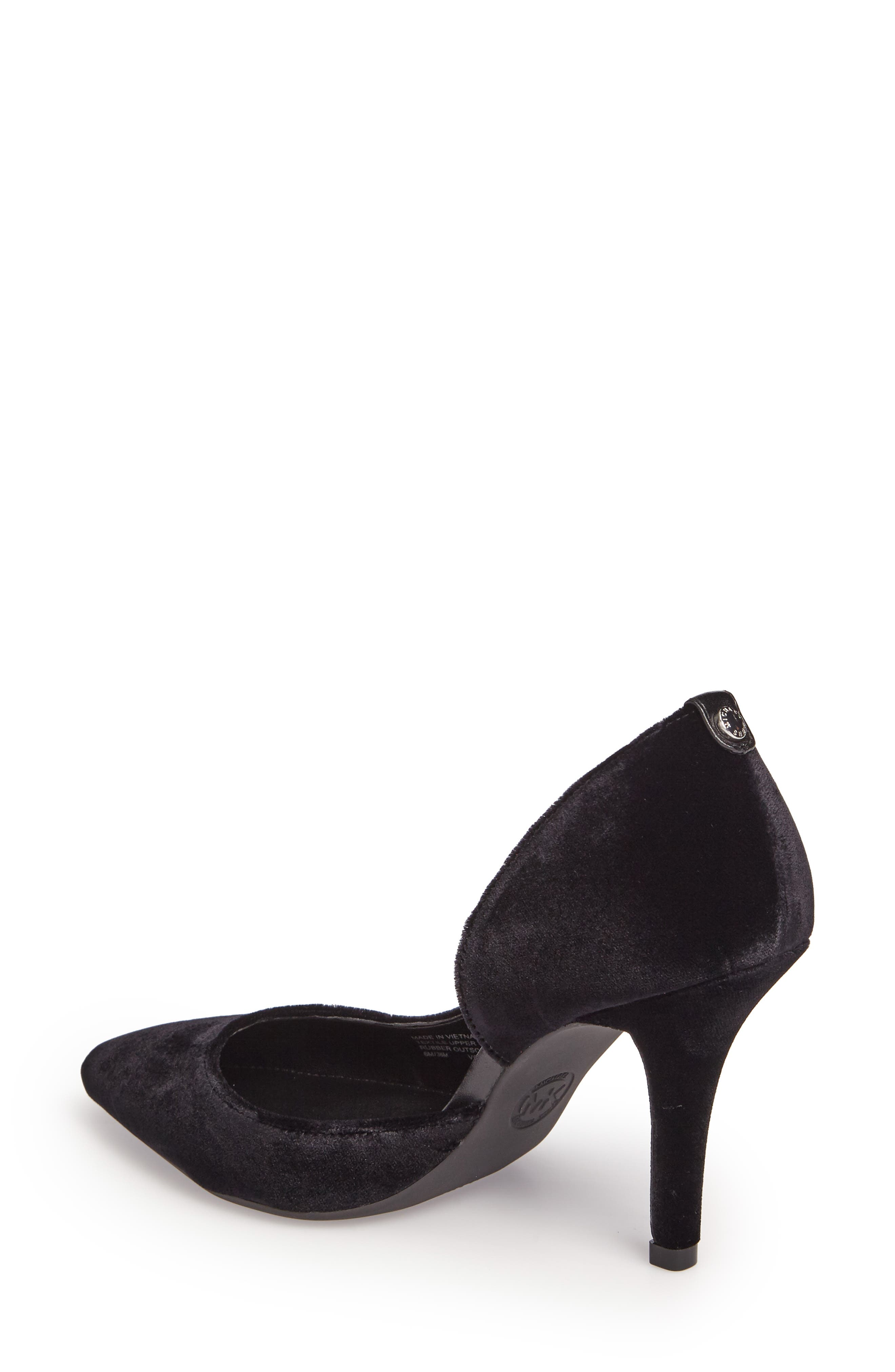 'Nathalie Flex' Half D'Orsay Pump,                             Alternate thumbnail 2, color,                             002