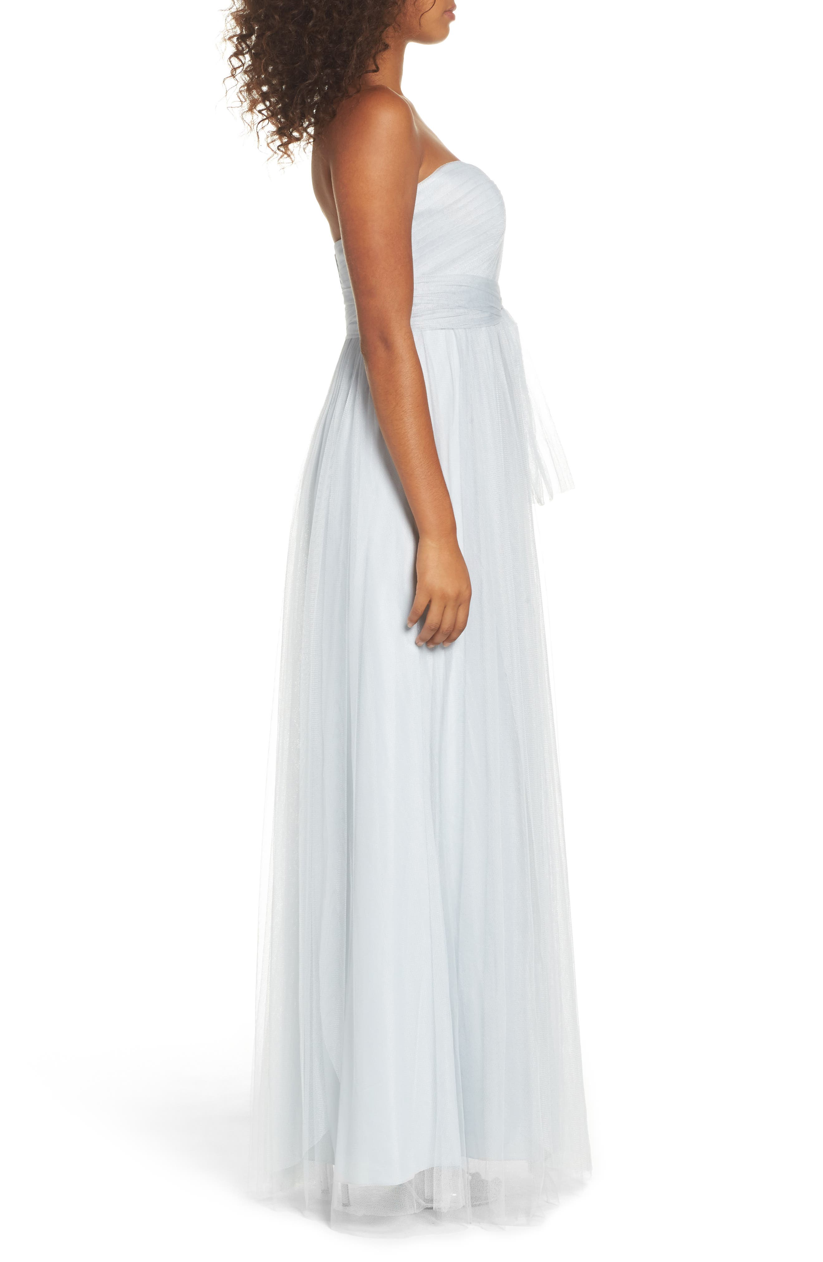 Annabelle Convertible Tulle Column Dress,                             Alternate thumbnail 67, color,
