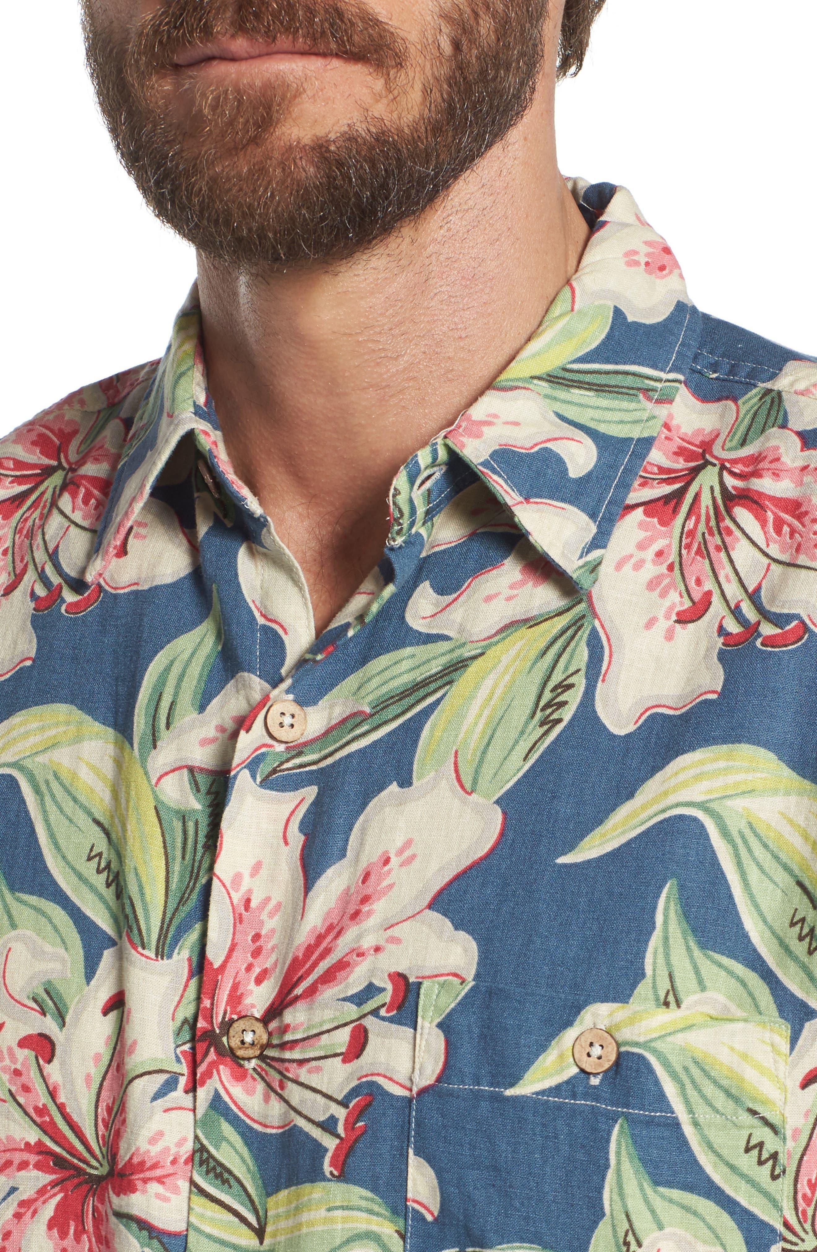 Tropical Atoll Sport Shirt,                             Alternate thumbnail 4, color,