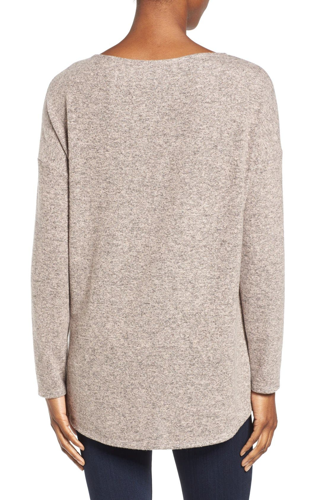 Cozy Ballet Neck High/Low Pullover,                             Alternate thumbnail 53, color,