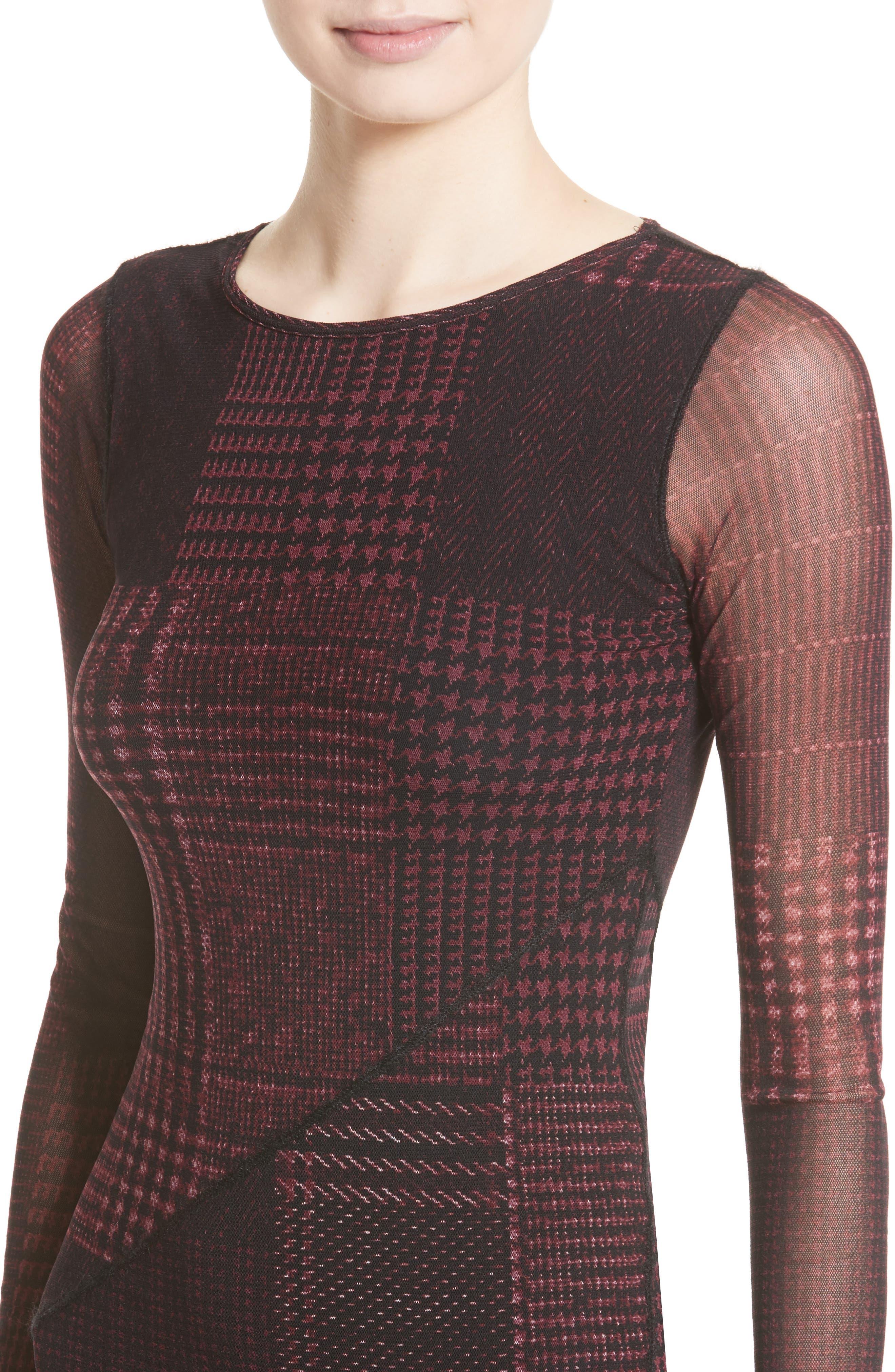 Long Sleeve Tulle Midi Dress,                             Alternate thumbnail 4, color,                             930
