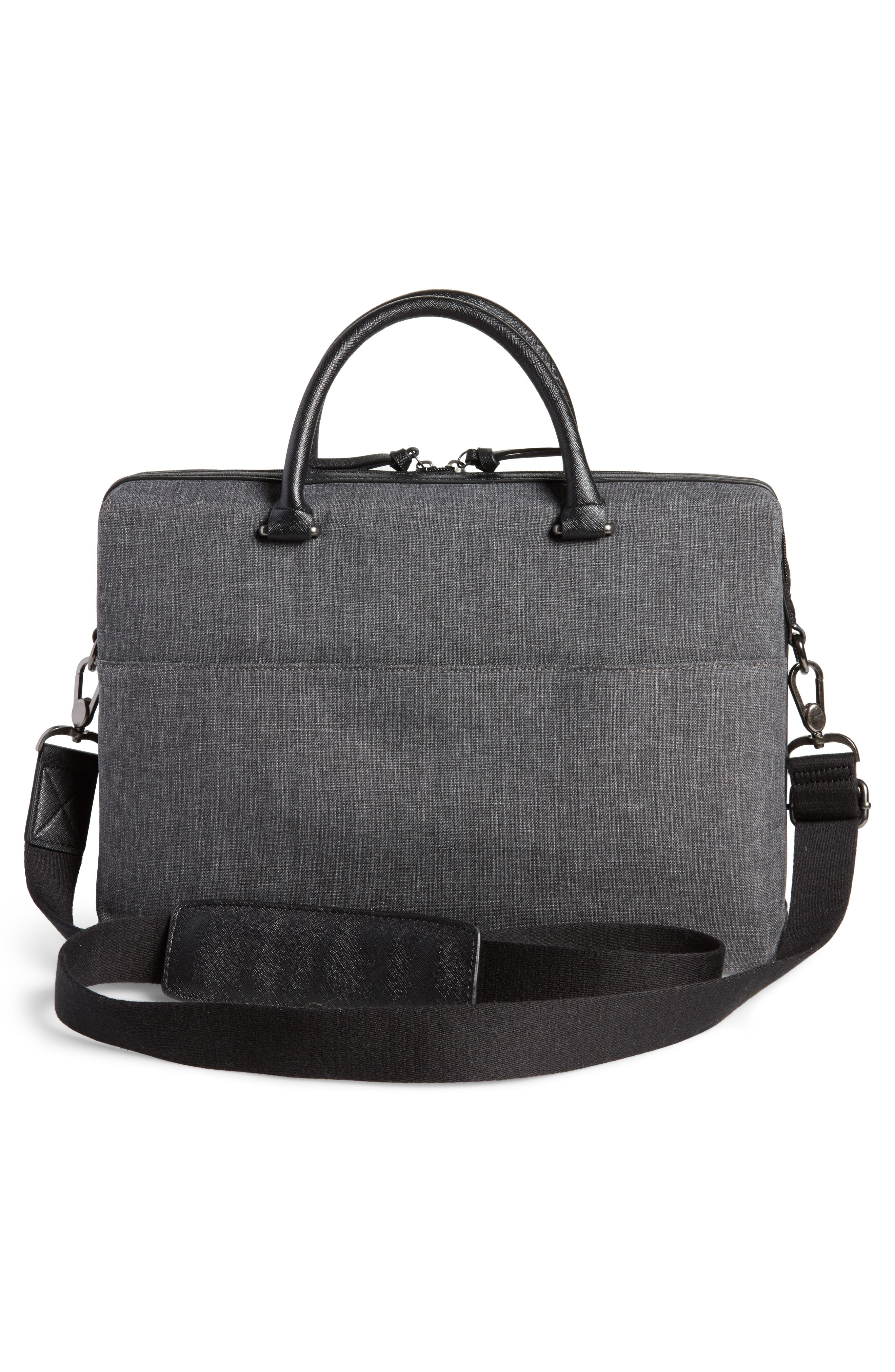 TED BAKER LONDON,                             Citrice Document Briefcase,                             Alternate thumbnail 3, color,                             CHARCOAL