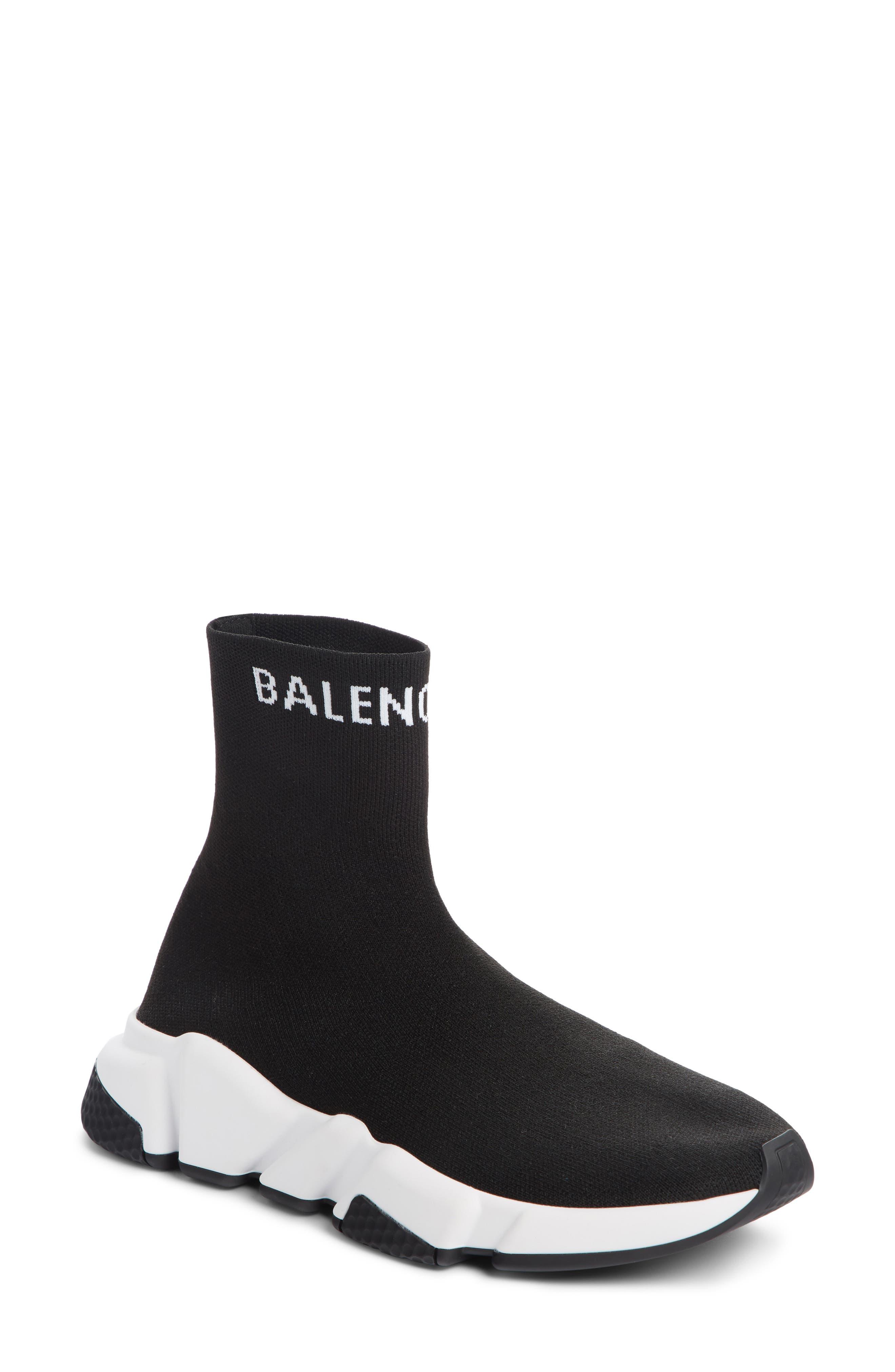Tall Speed Knit Sock Sneakers in Black