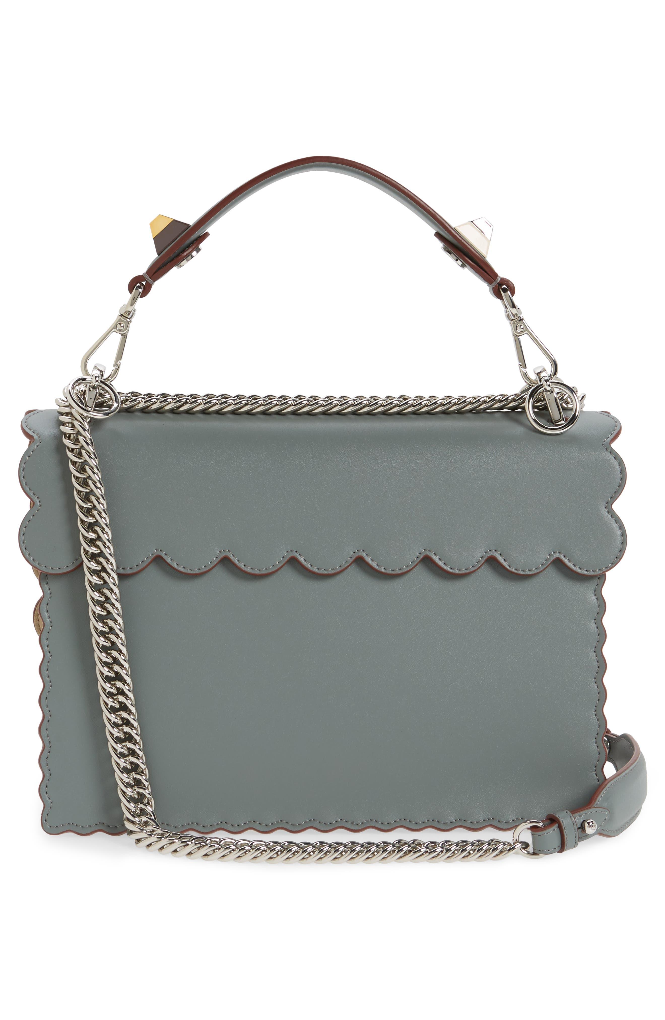 Kan I Scallop Leather Shoulder Bag,                             Alternate thumbnail 3, color,                             348
