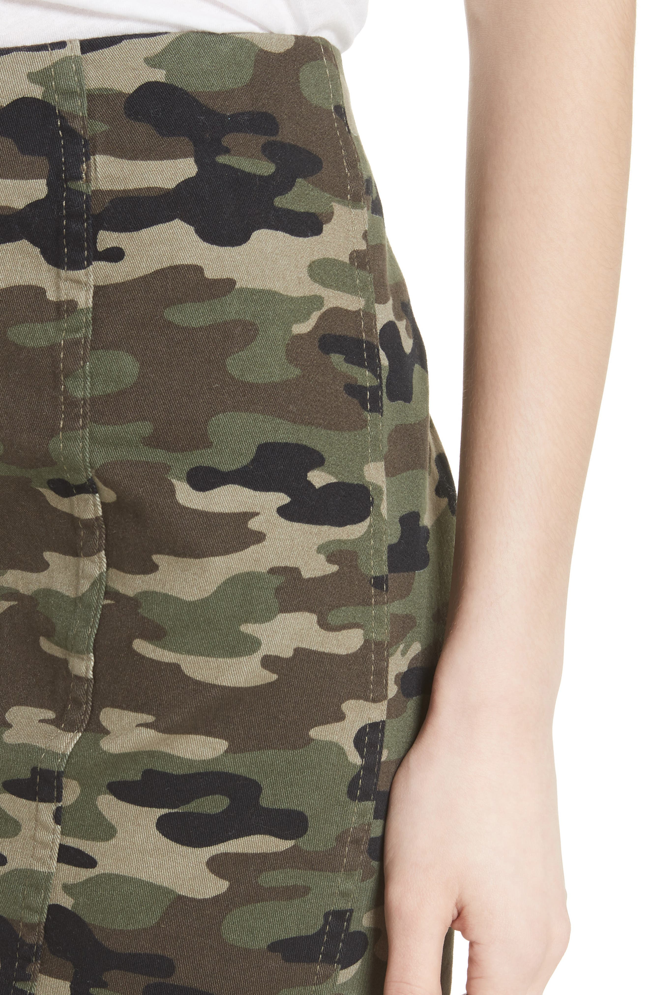We the Free by Free People Modern Femme Camo Skirt,                             Alternate thumbnail 4, color,                             GREEN