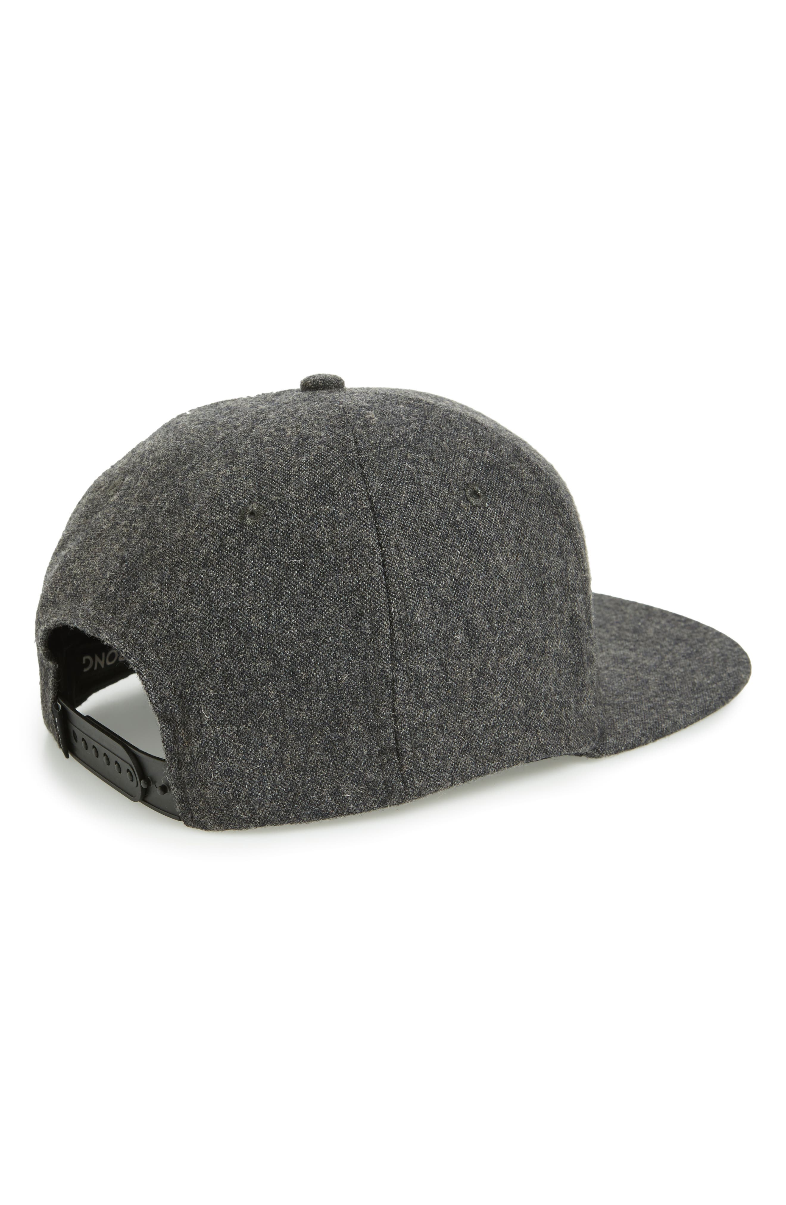 All Day Snapback Cap,                             Alternate thumbnail 3, color,                             BLACK HEATHER
