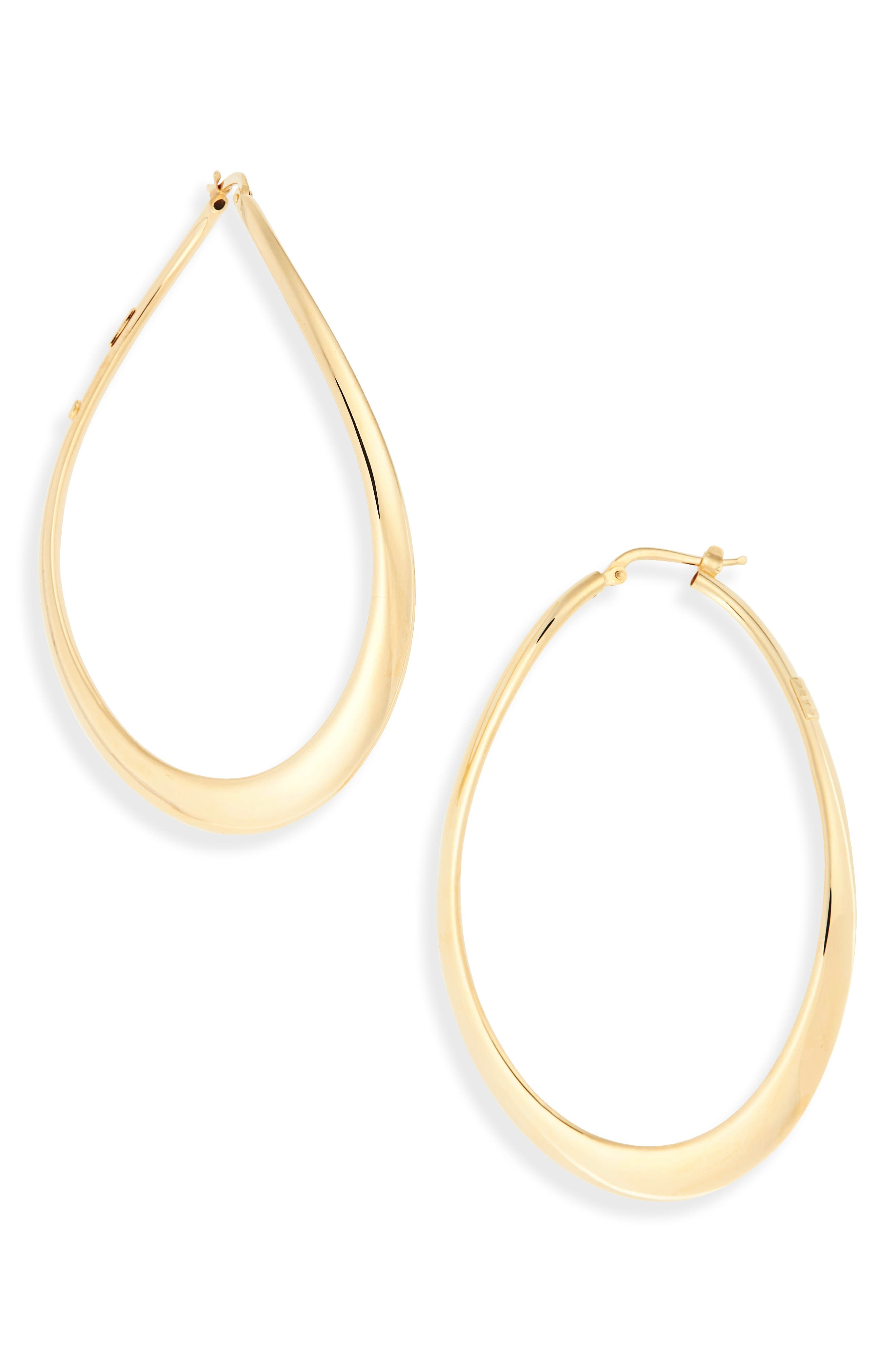 Classic Oro 18k Gold Hoop Earrings,                         Main,                         color, 710