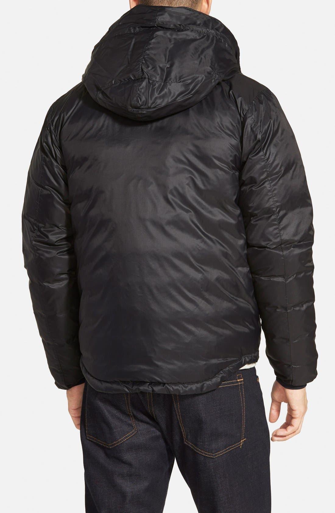 'Lodge' Slim Fit Packable Jacket,                             Alternate thumbnail 9, color,                             BLACK