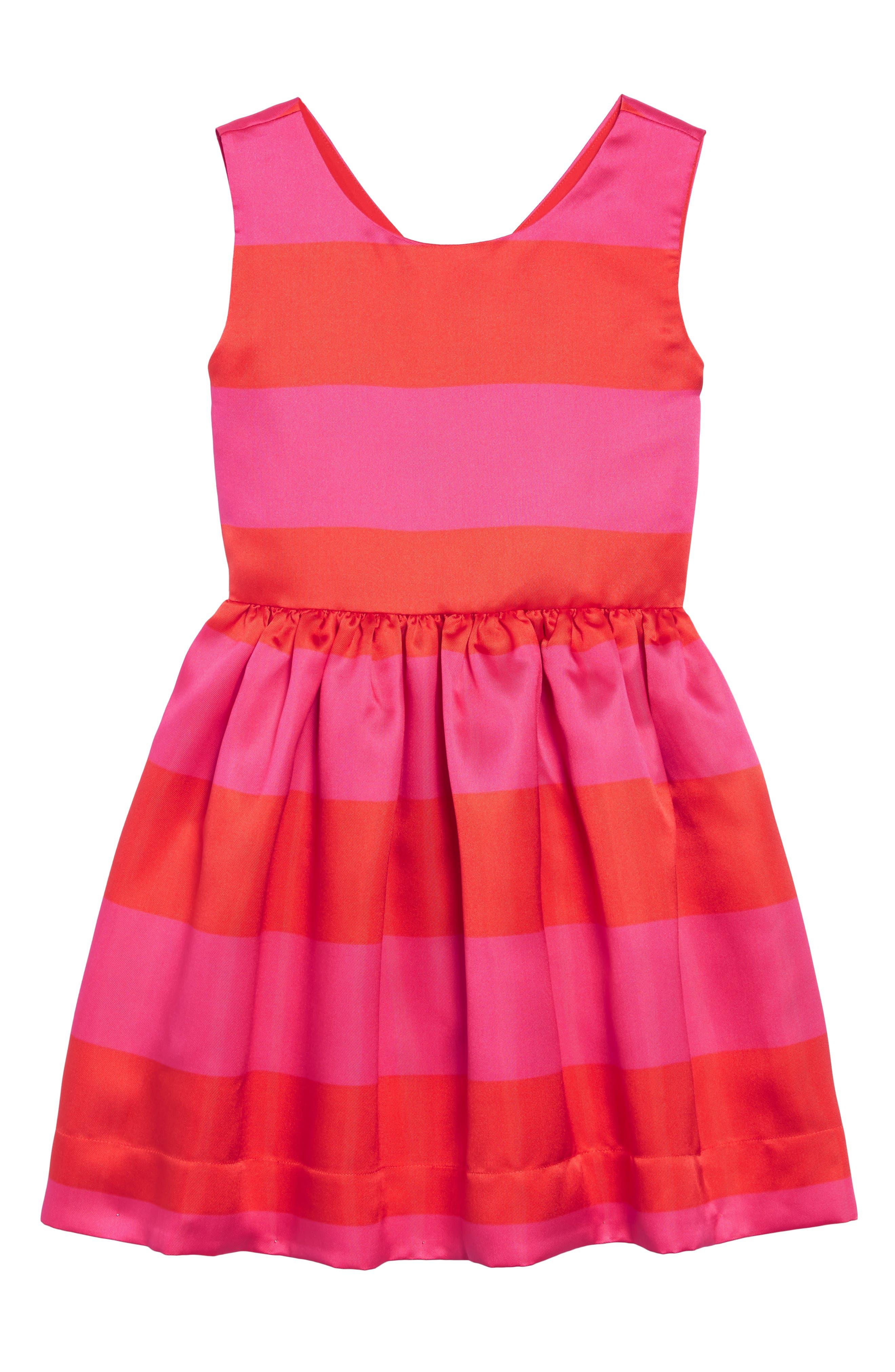 carolyn stripe party dress,                         Main,                         color, 650
