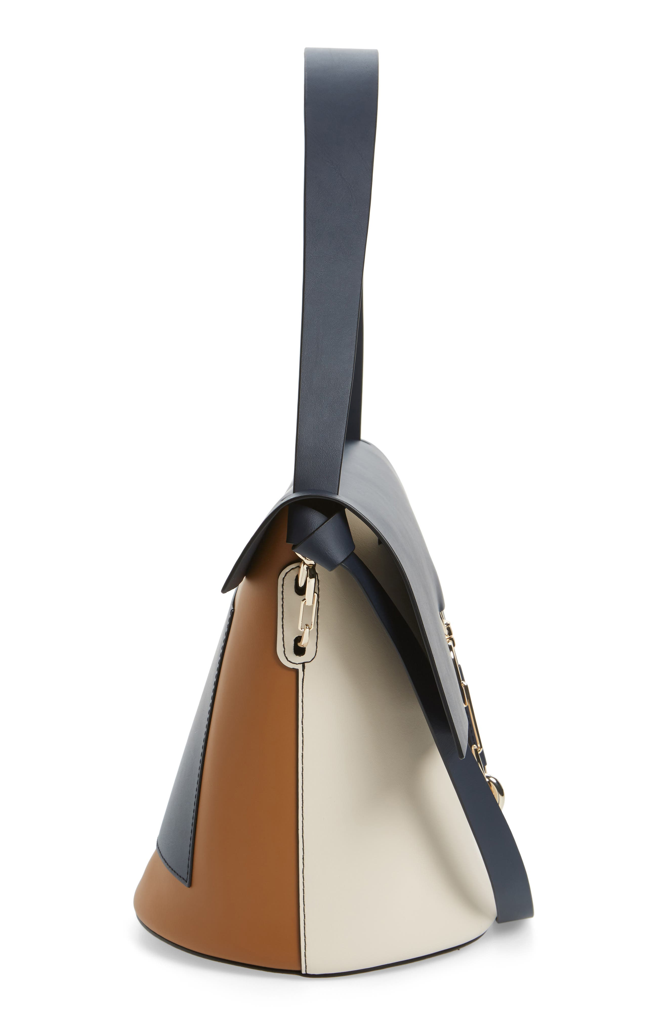 Belay Colorblock Leather Bucket Bag,                             Alternate thumbnail 5, color,                             410