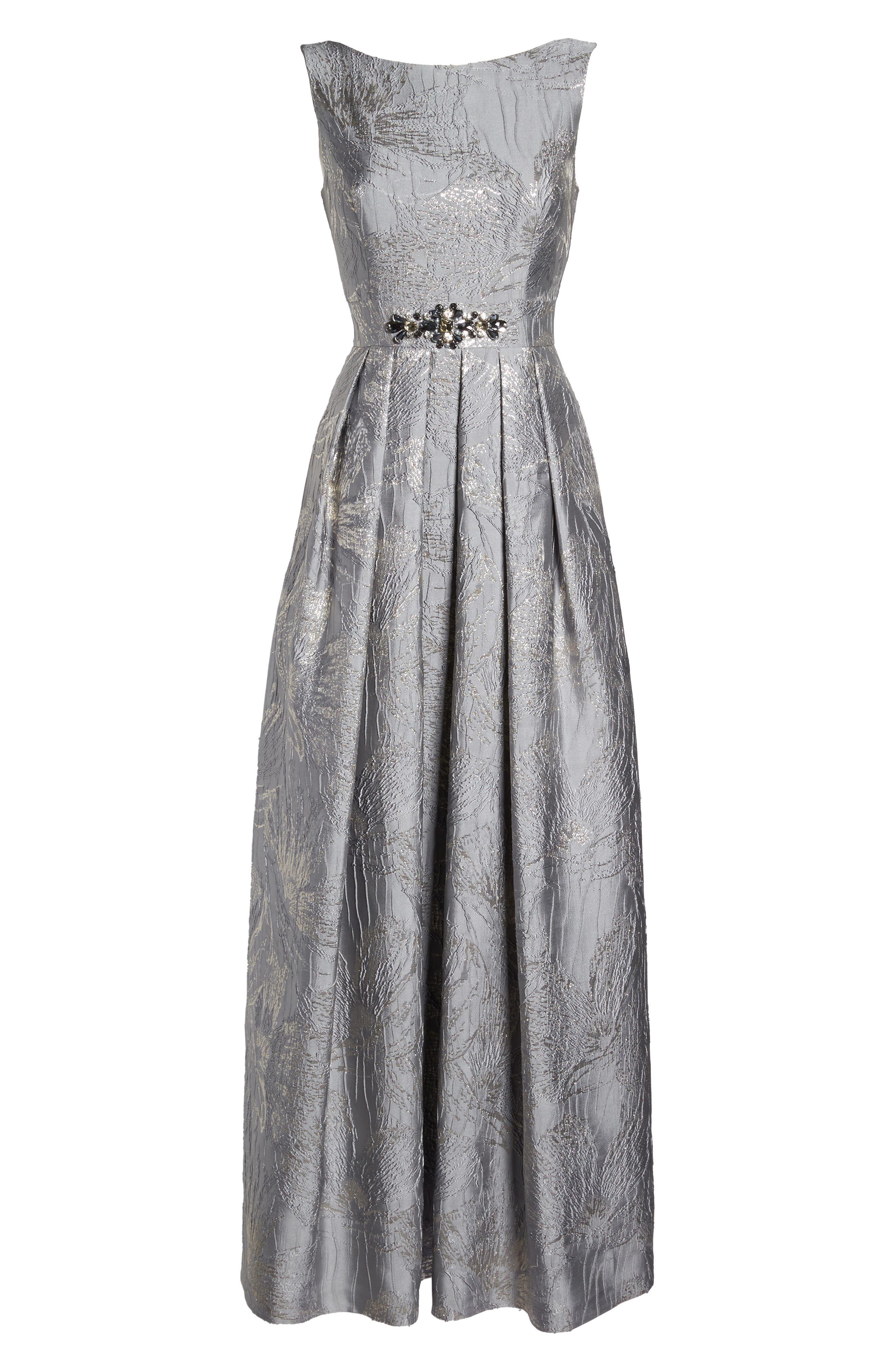 Embellished Brocade Ballgown,                             Alternate thumbnail 6, color,                             040