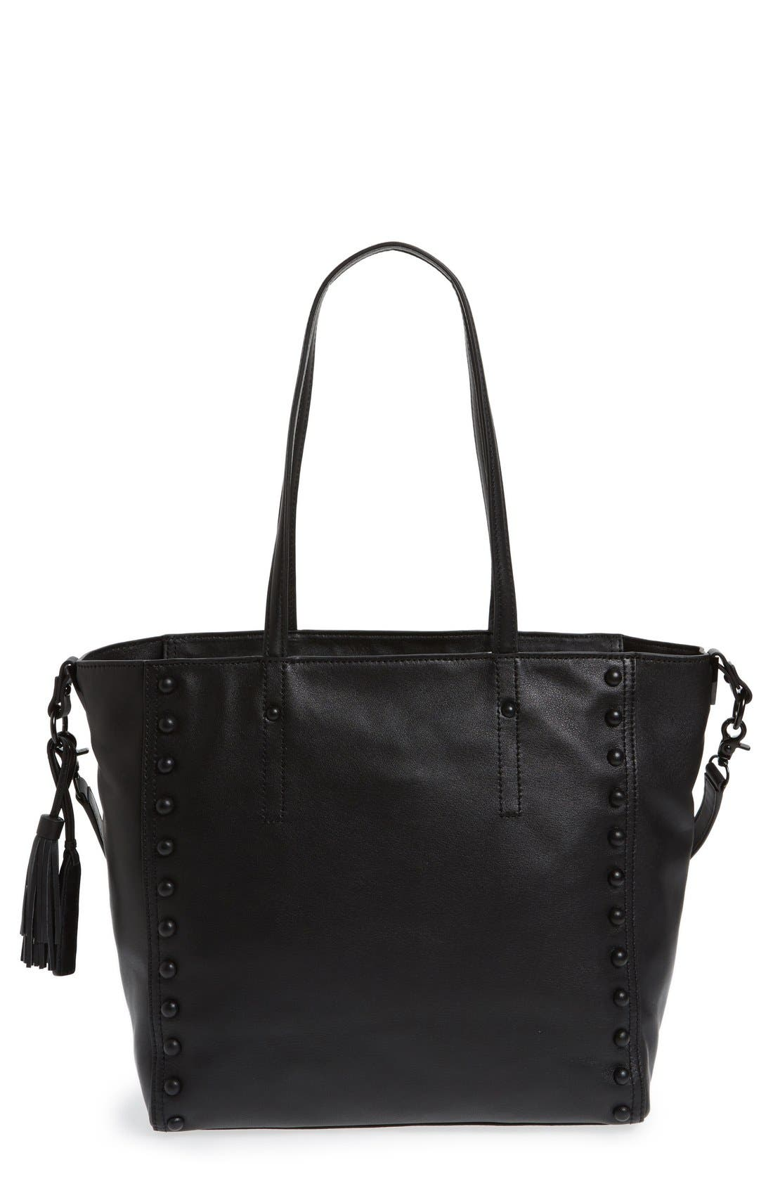 LOEFFLER RANDALL Studded Leather Tote, Main, color, 001