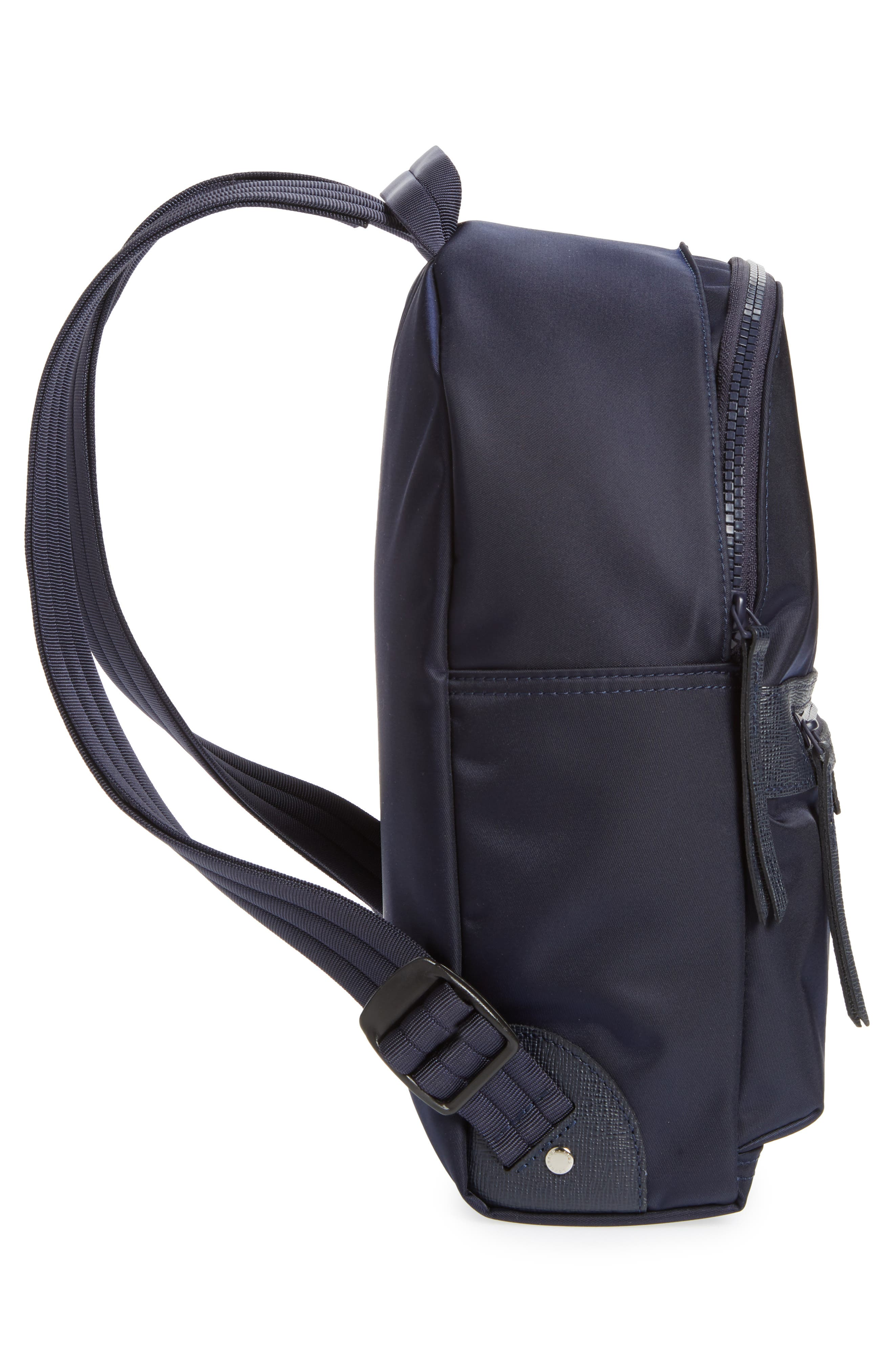 'Small Le Pliage Neo' Nylon Backpack,                             Alternate thumbnail 5, color,                             NAVY BLUE
