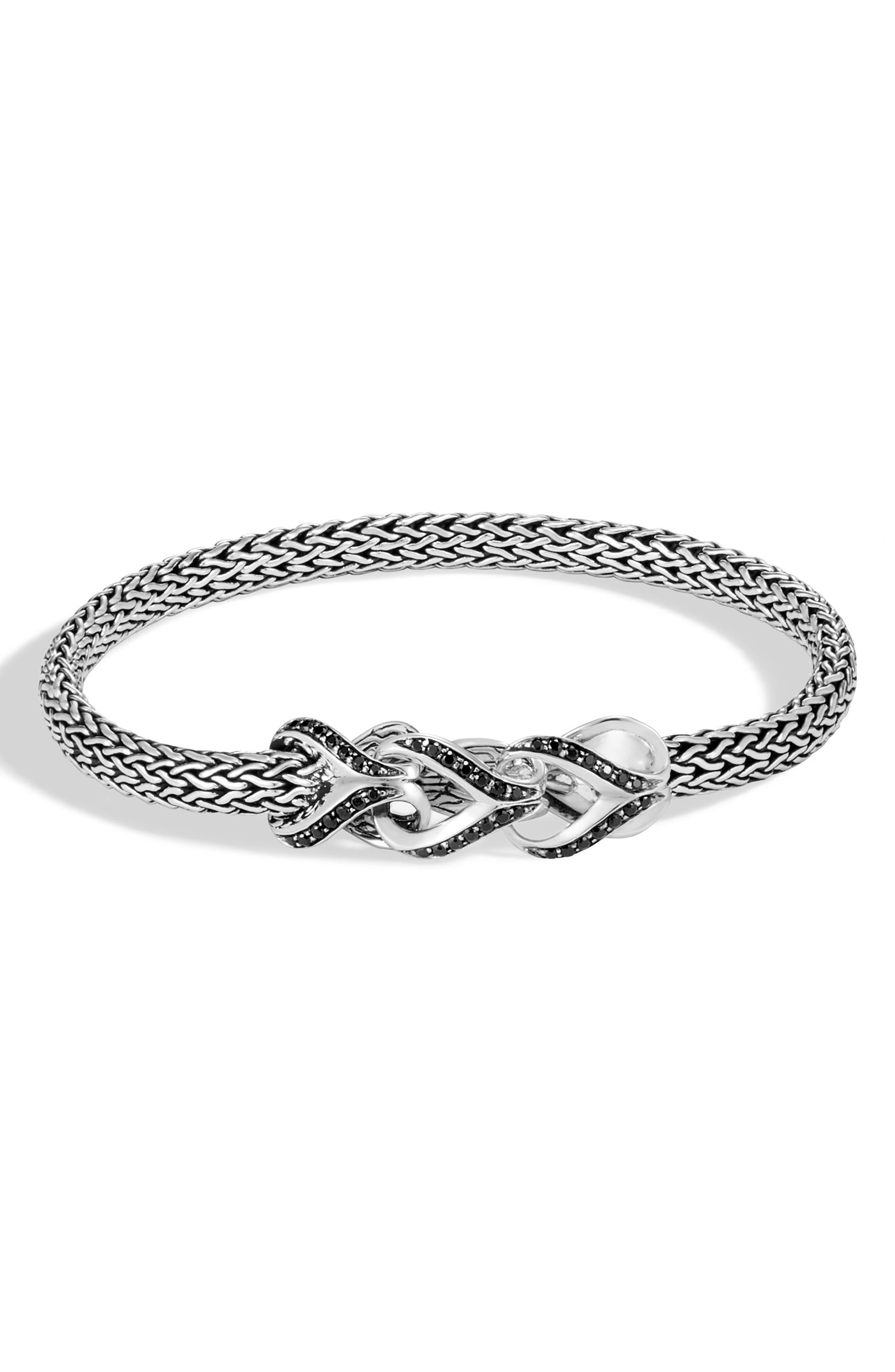 Classic Chain Link 5mm Bracelet,                             Main thumbnail 1, color,                             SILVER