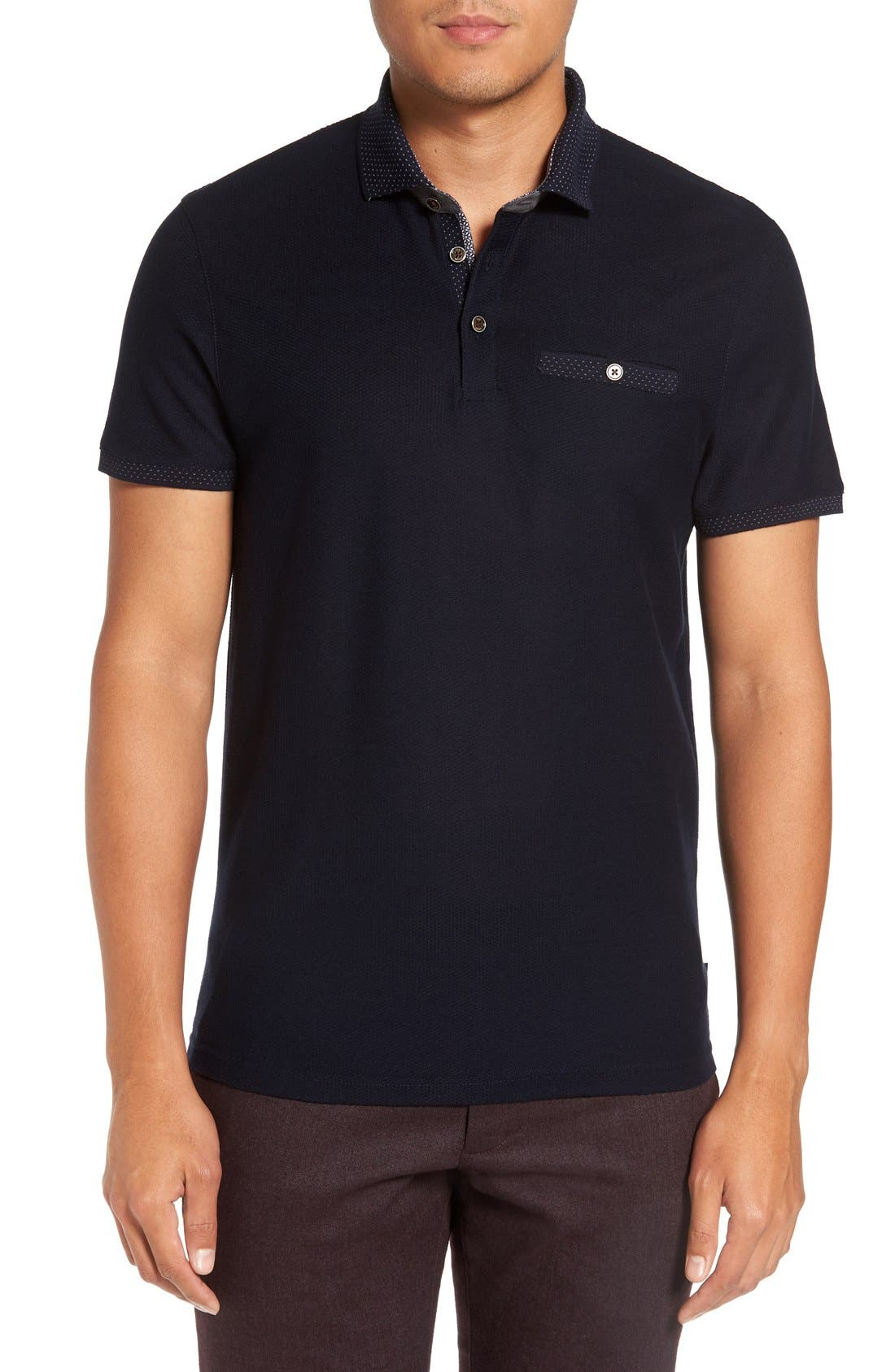 TED BAKER LONDON,                             Dino Polo,                             Main thumbnail 1, color,                             410