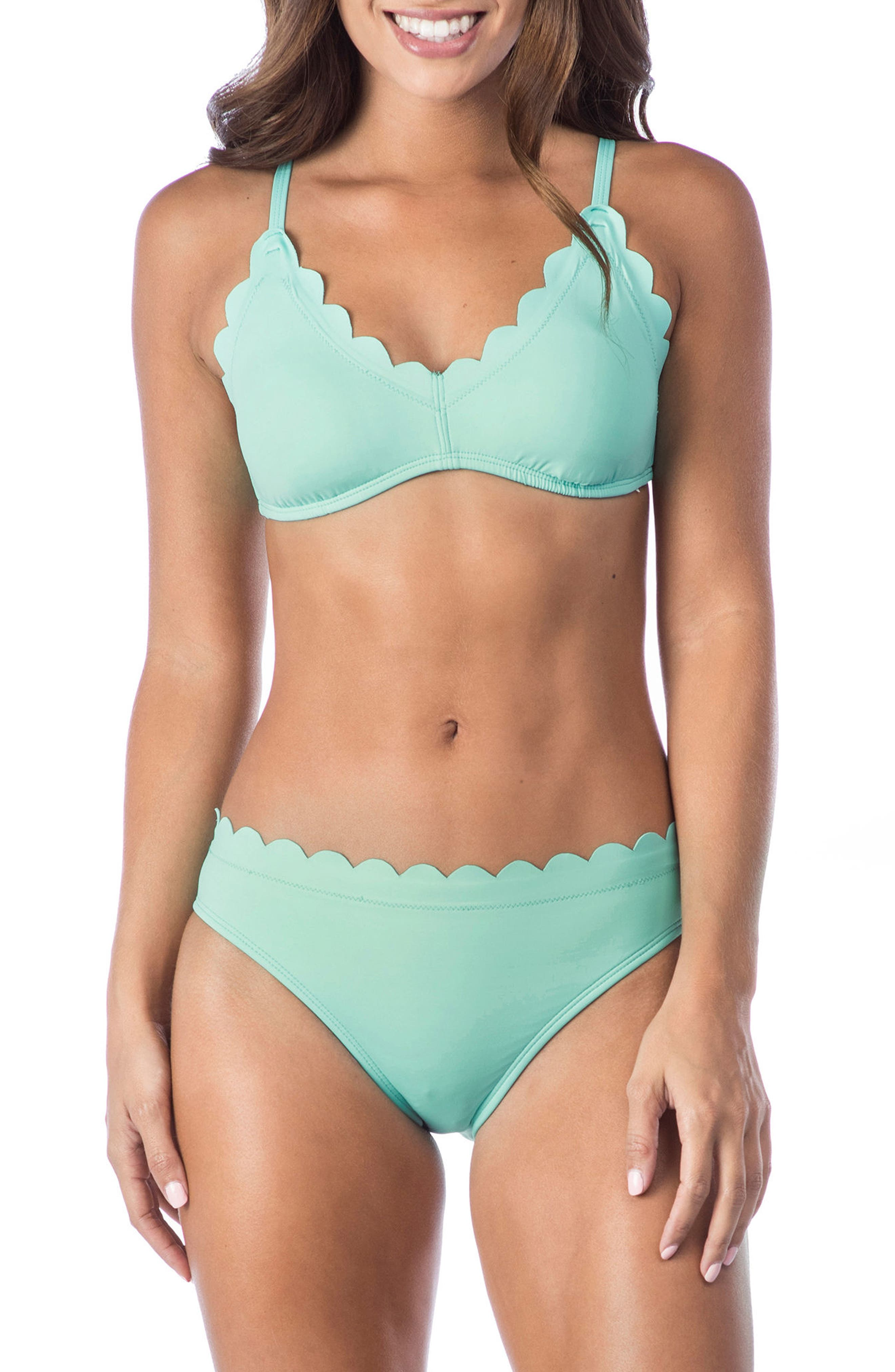 Petal Pusher Bikini Top,                             Alternate thumbnail 3, color,                             SEAFOAM