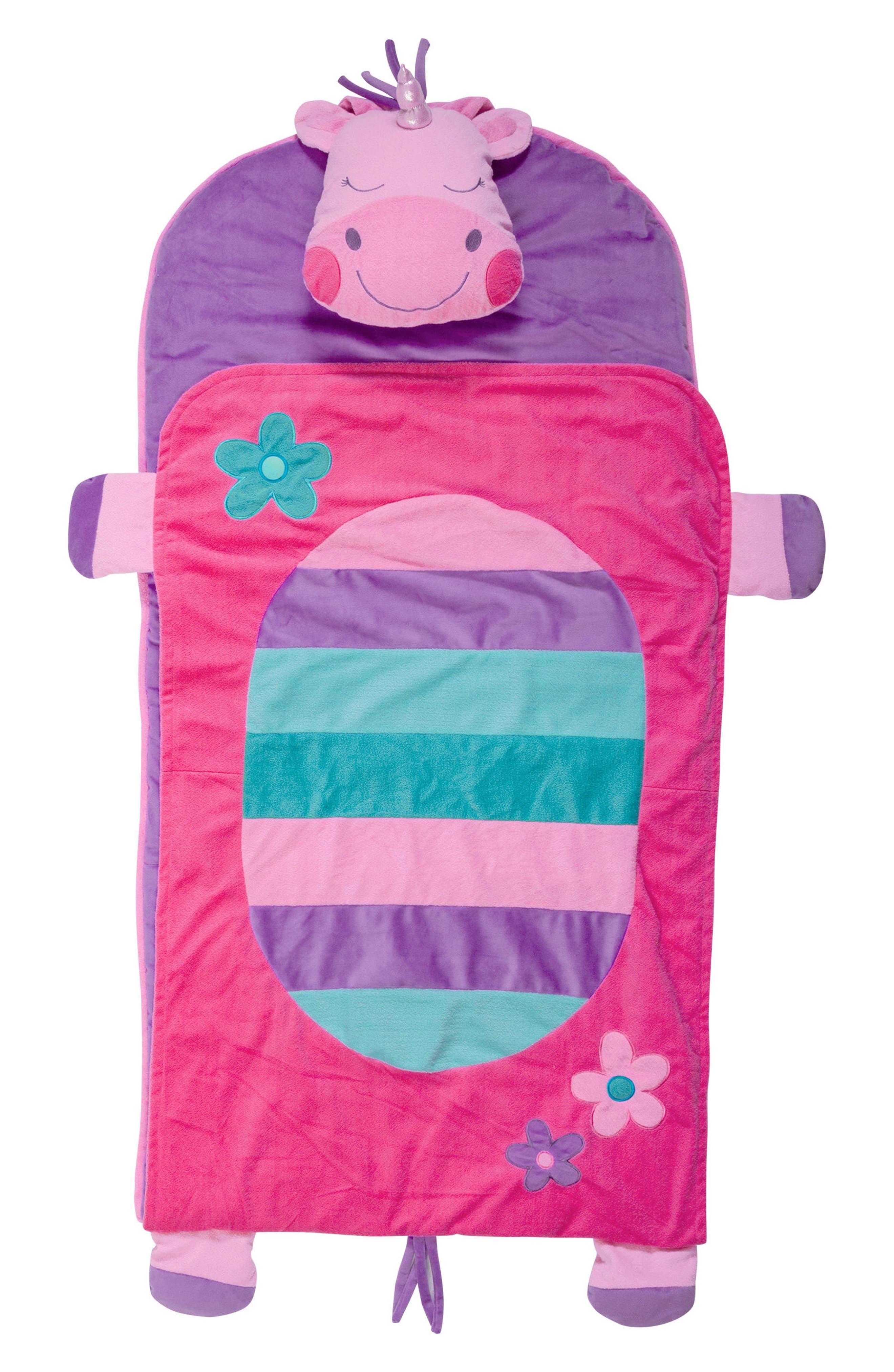 Portable Nap Mat, Pillow & Blanket,                             Alternate thumbnail 3, color,                             UNICORN