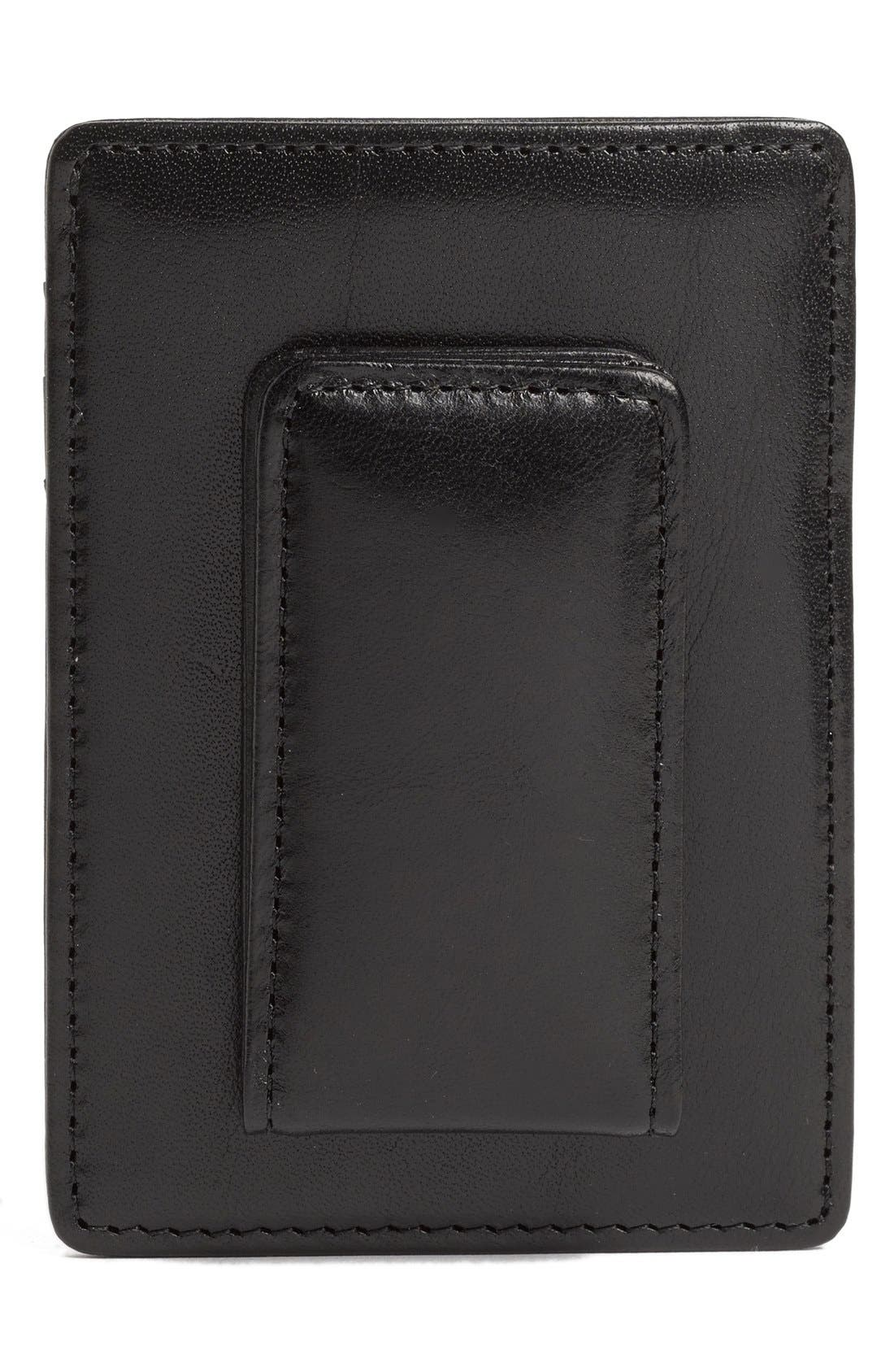 'Old Leather' Front Pocket Wallet,                             Alternate thumbnail 2, color,                             BLACK
