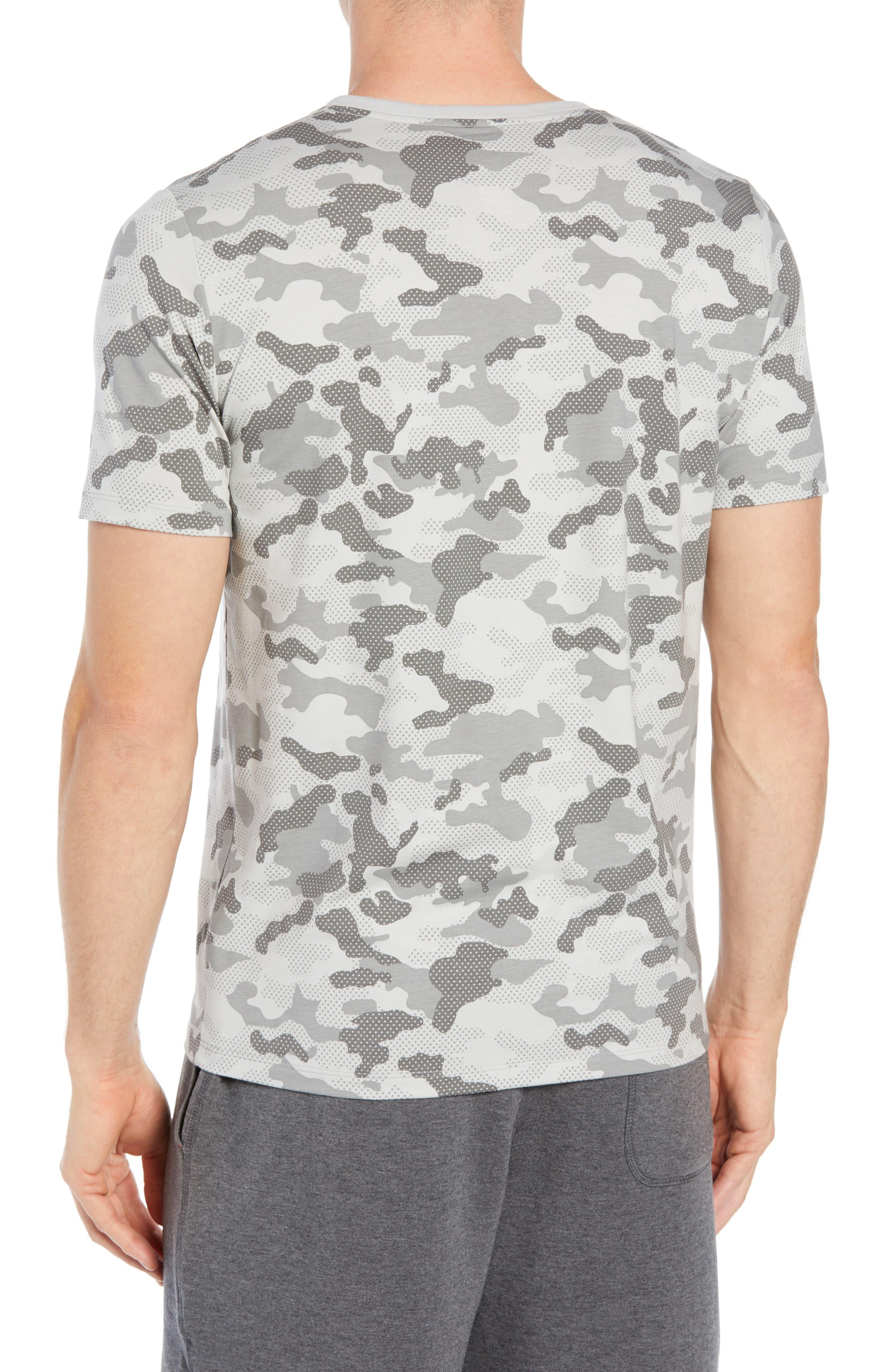 Second Skin Micromodal Deep V-Neck Undershirt,                             Alternate thumbnail 2, color,                             GREY CAMO