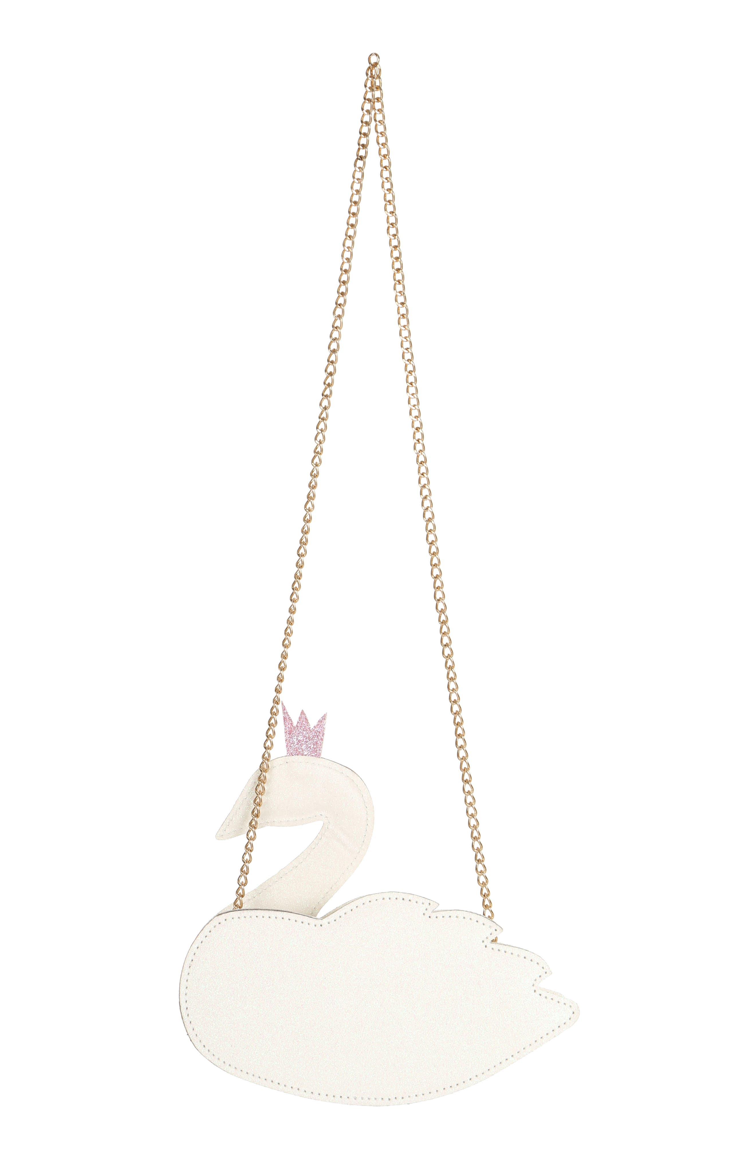 Crowned Swan Shoulder Bag,                             Alternate thumbnail 2, color,                             WHITE COMBO