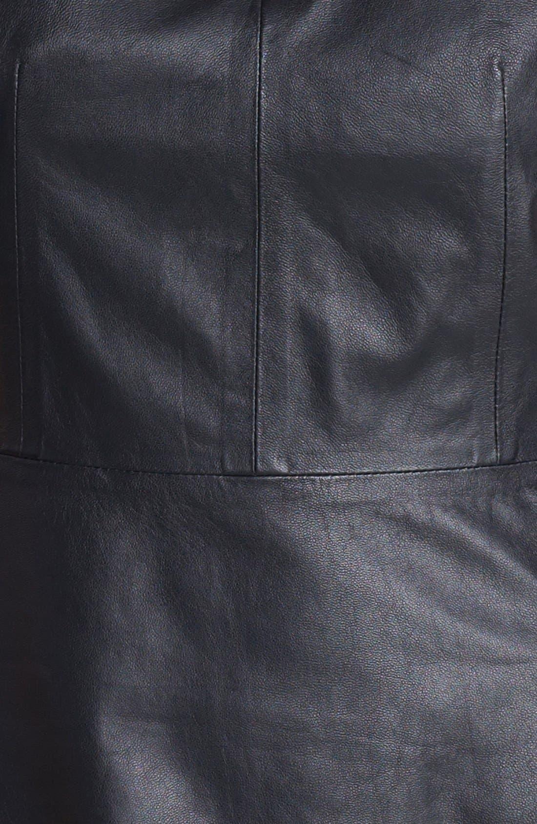 'Etia L.' Leather Top,                             Alternate thumbnail 2, color,                             001
