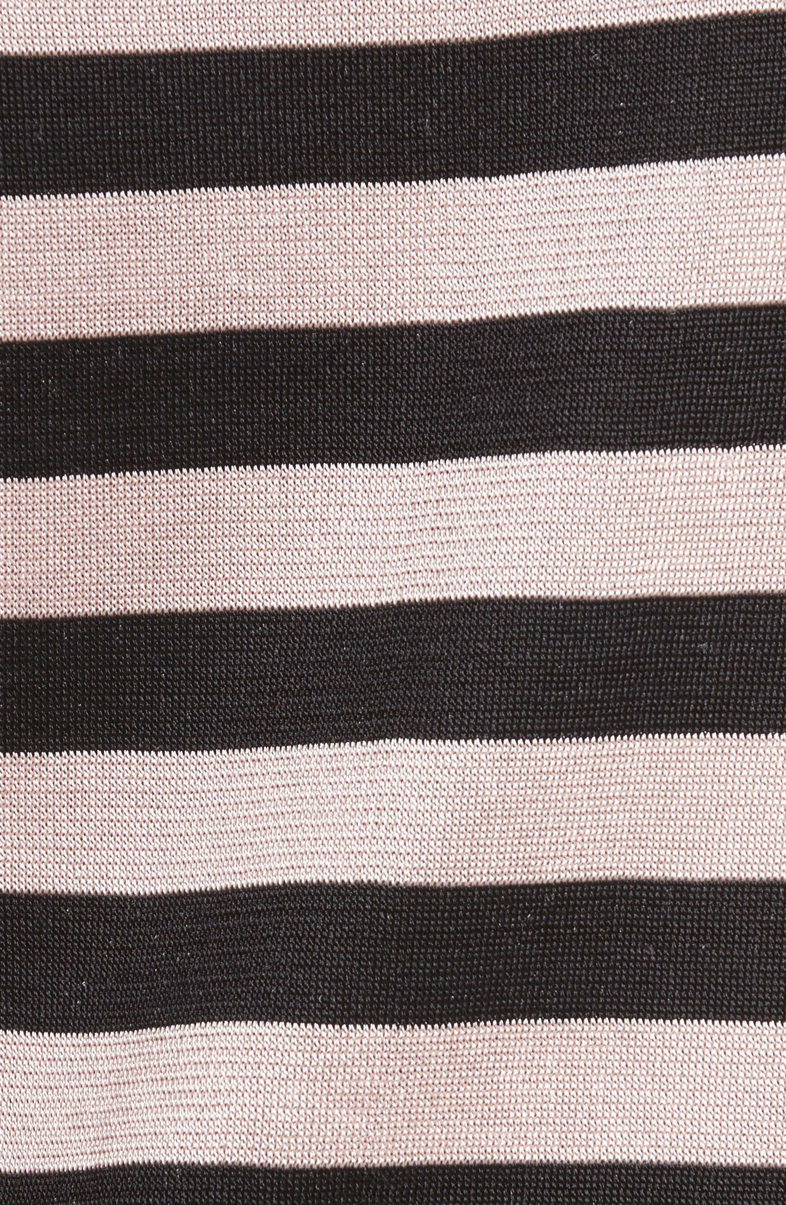 Cindy Stripe Reversible Tee,                             Alternate thumbnail 6, color,                             001