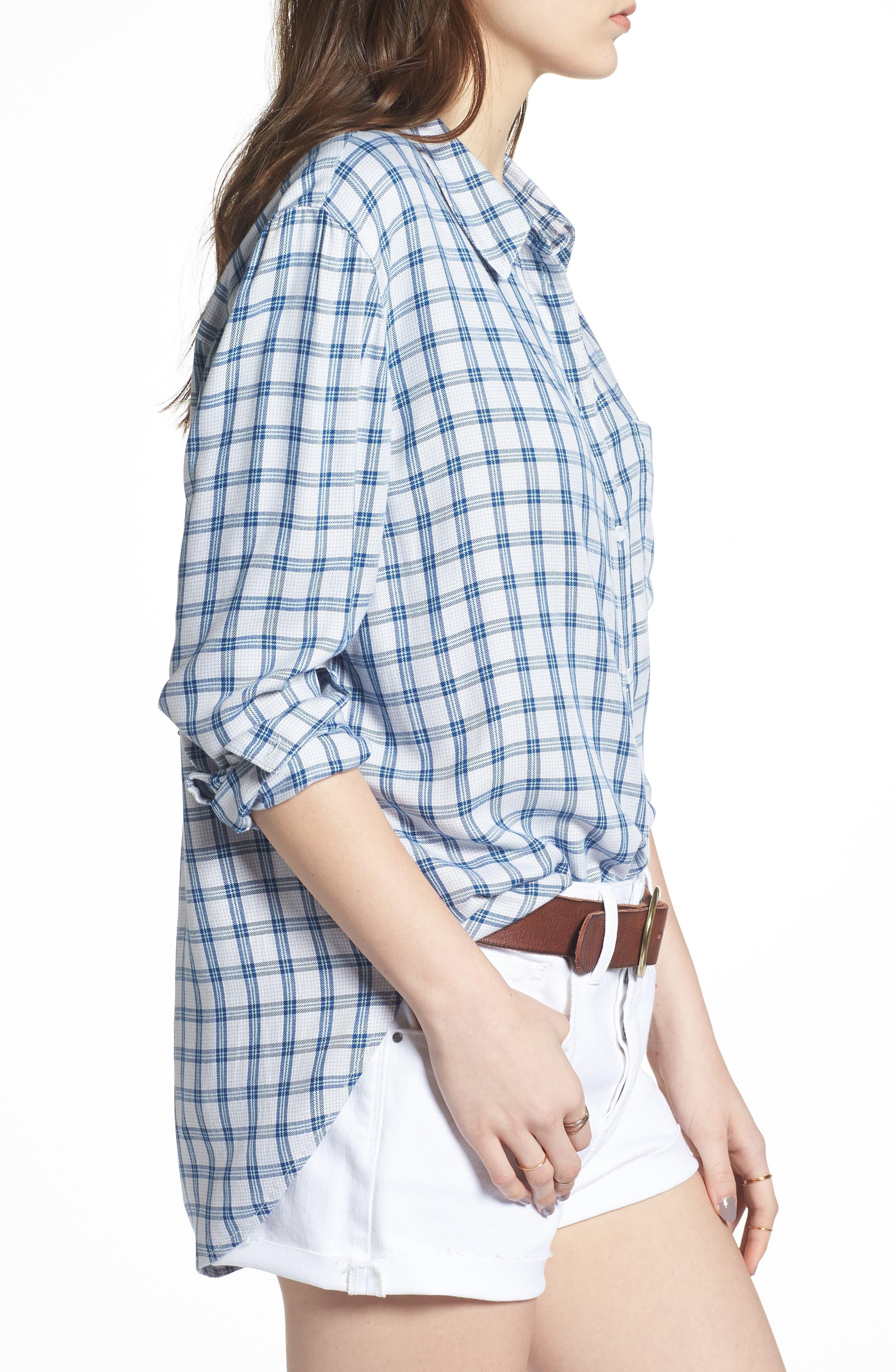 Plaid Boyfriend Shirt,                             Alternate thumbnail 14, color,