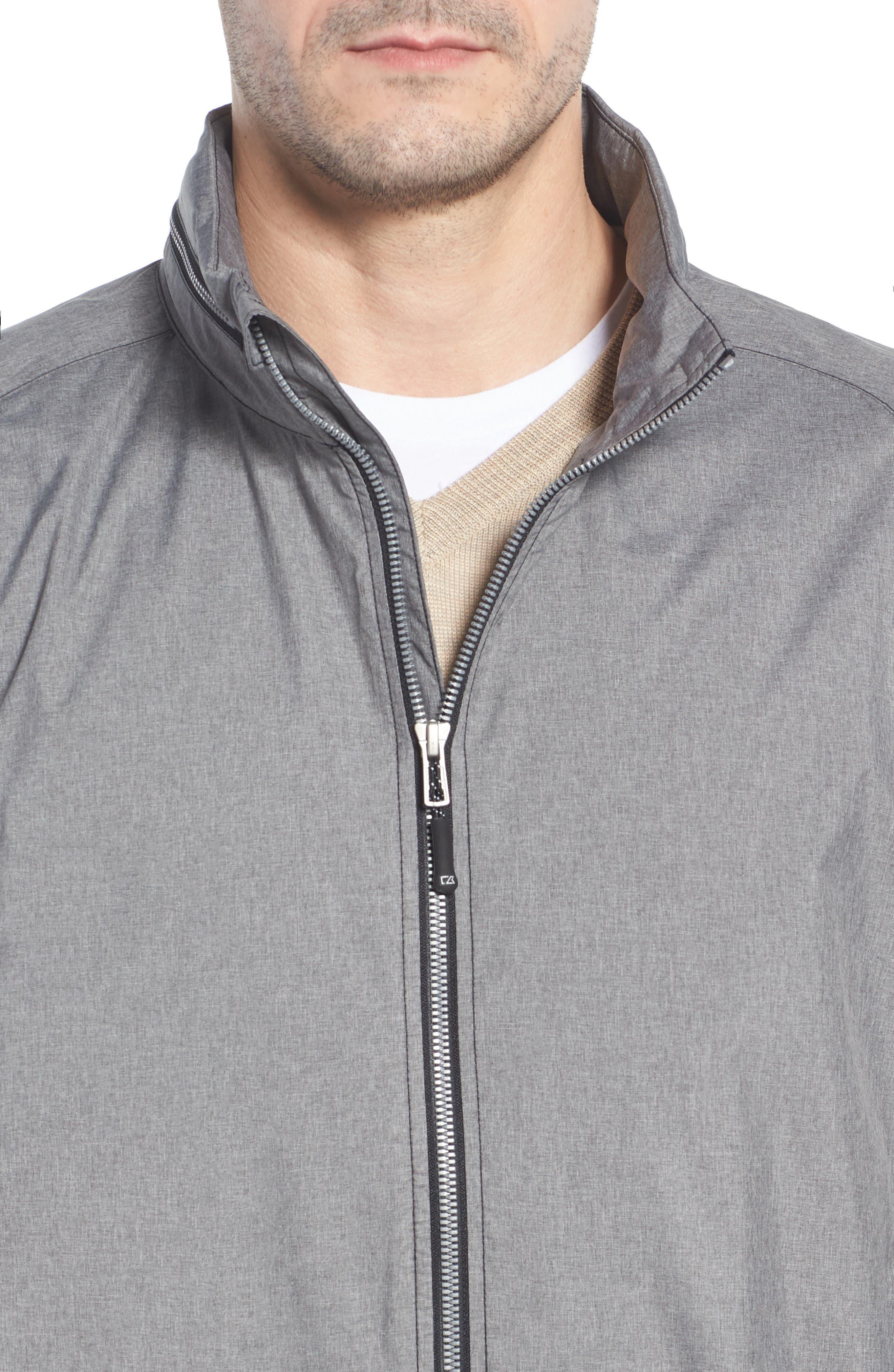 Panoramic Packable Jacket,                             Alternate thumbnail 4, color,                             BLACK