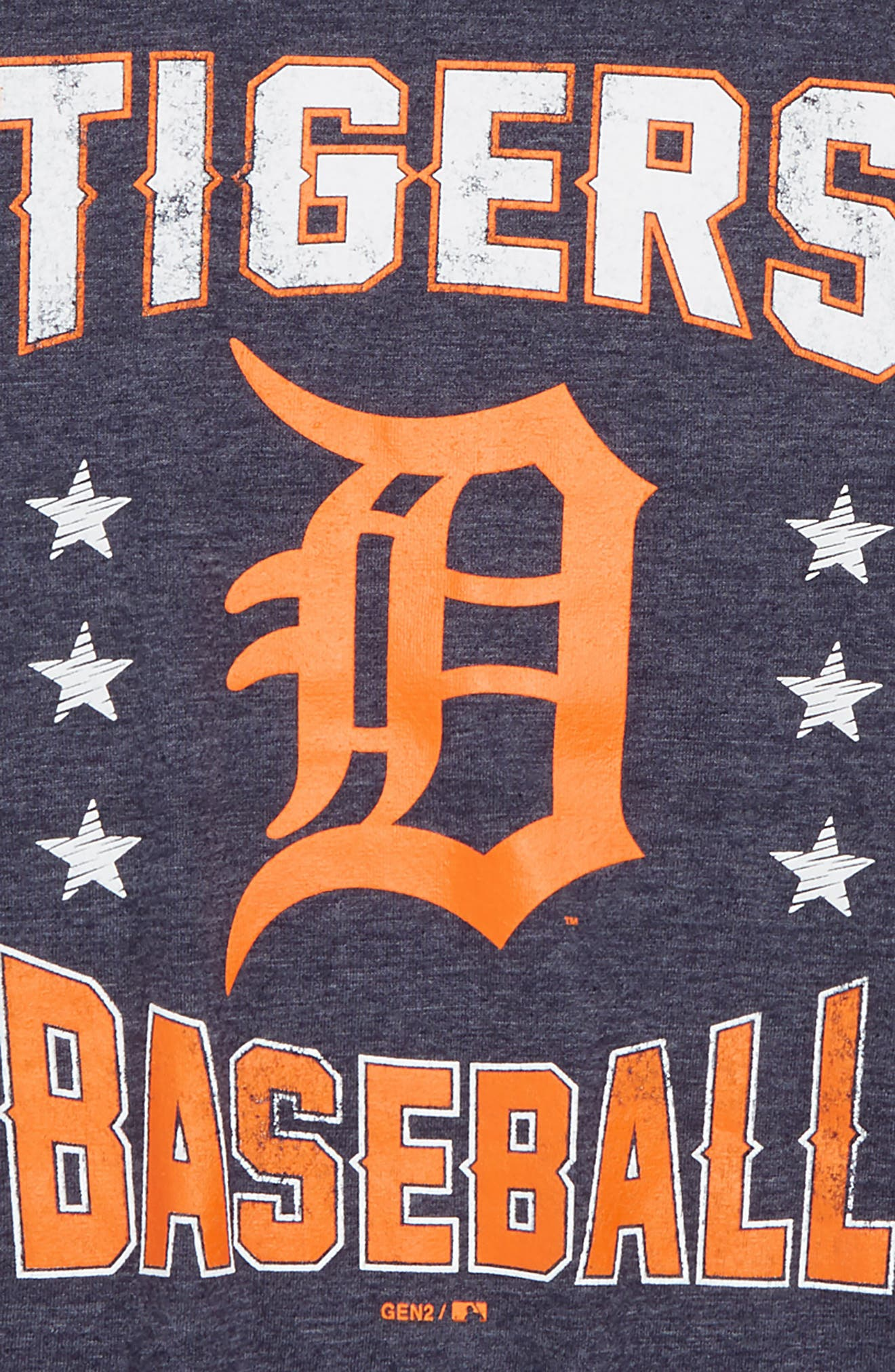 Detroit Tigers Triple Play T-Shirt,                             Alternate thumbnail 2, color,                             NAVY
