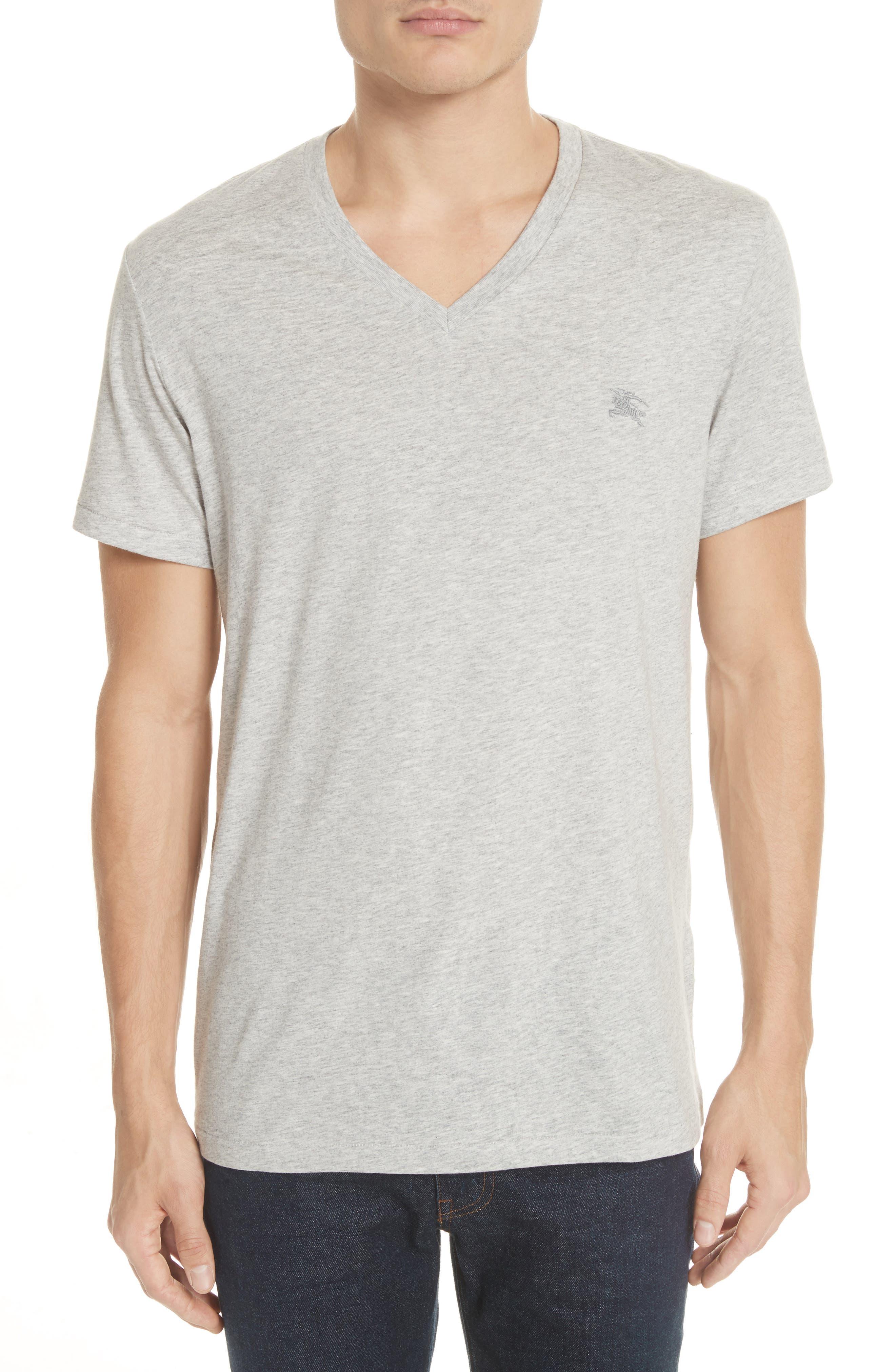Jadforth V-Neck T-Shirt,                         Main,                         color, PALE GREY MELANGE