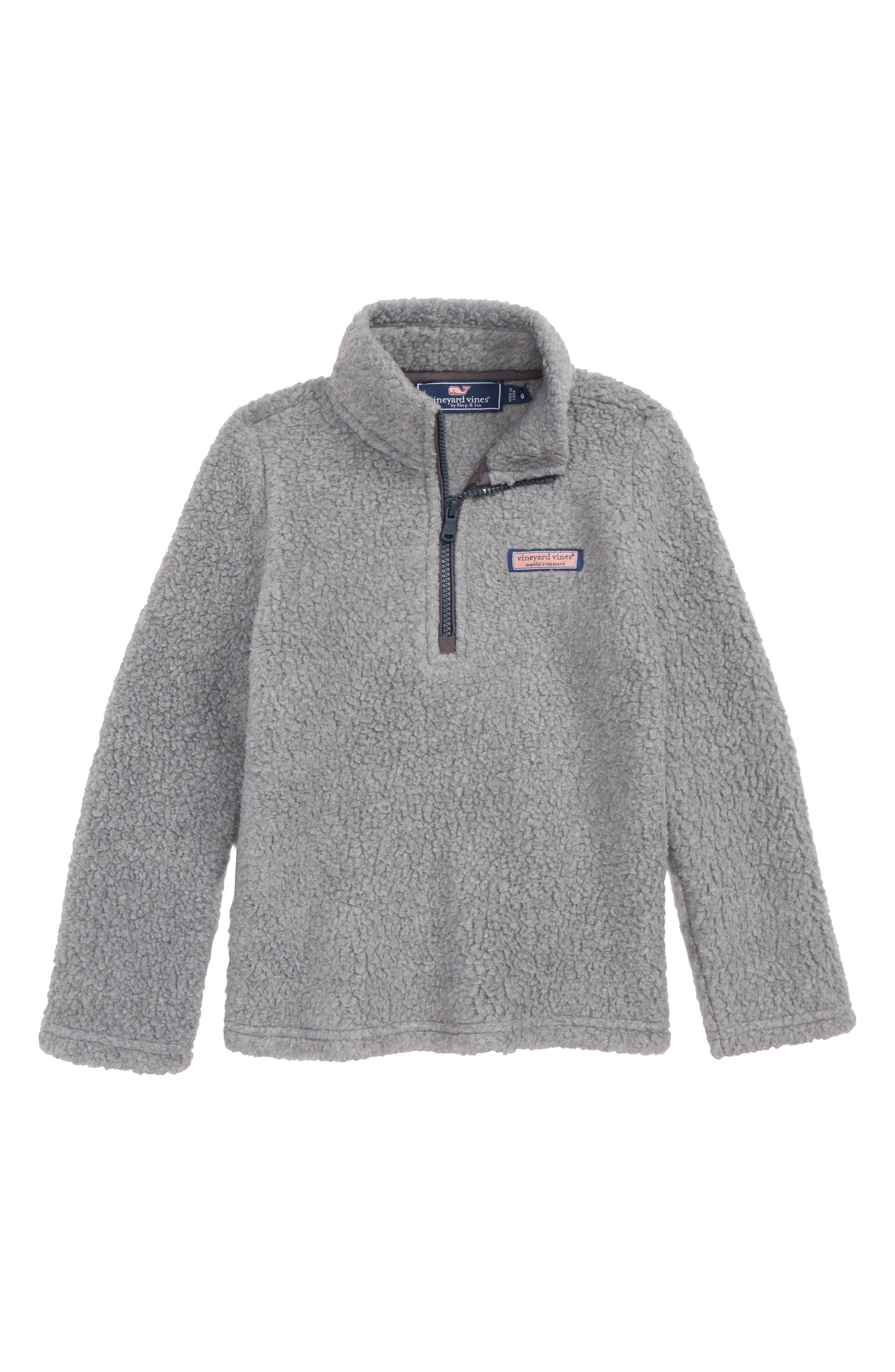 Harbor Fleece Half Zip Pullover, Main, color, GRAY HEATHER