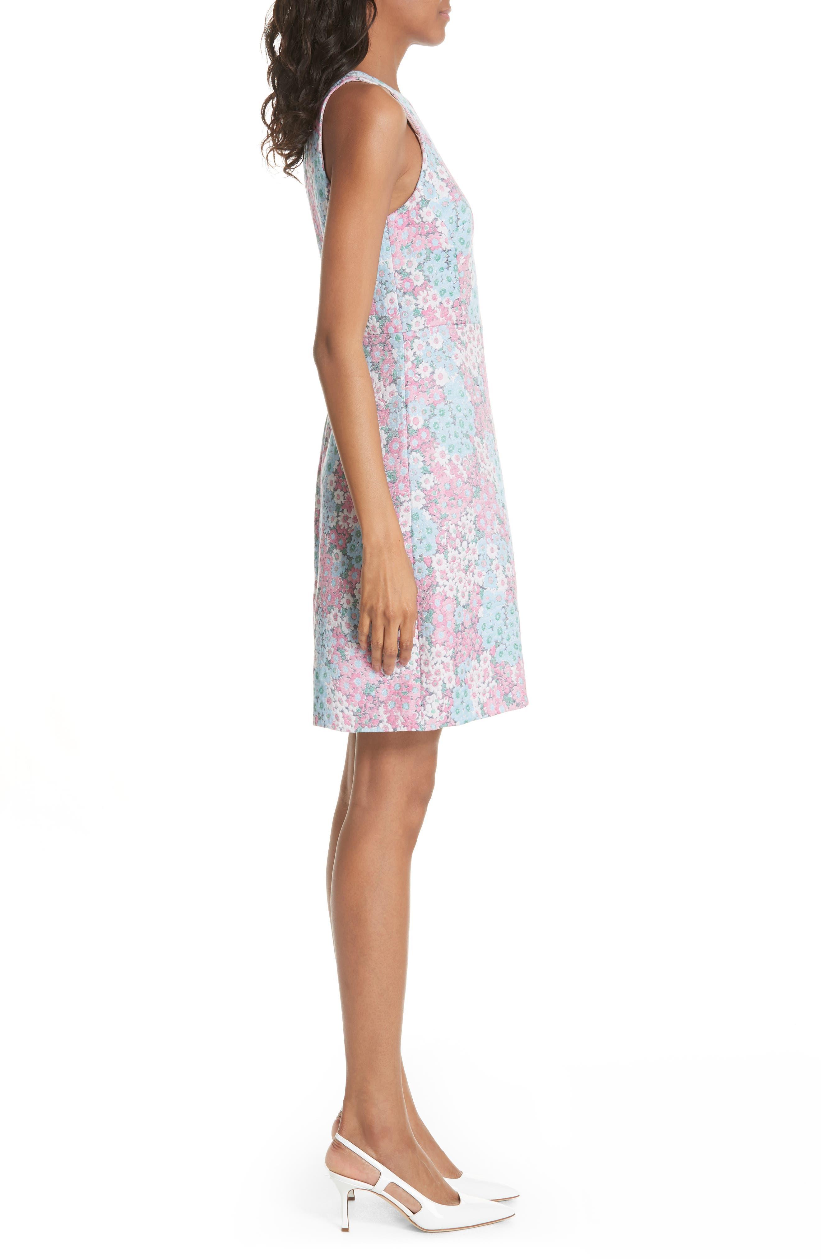 jacquard a-line dress,                             Alternate thumbnail 3, color,                             474