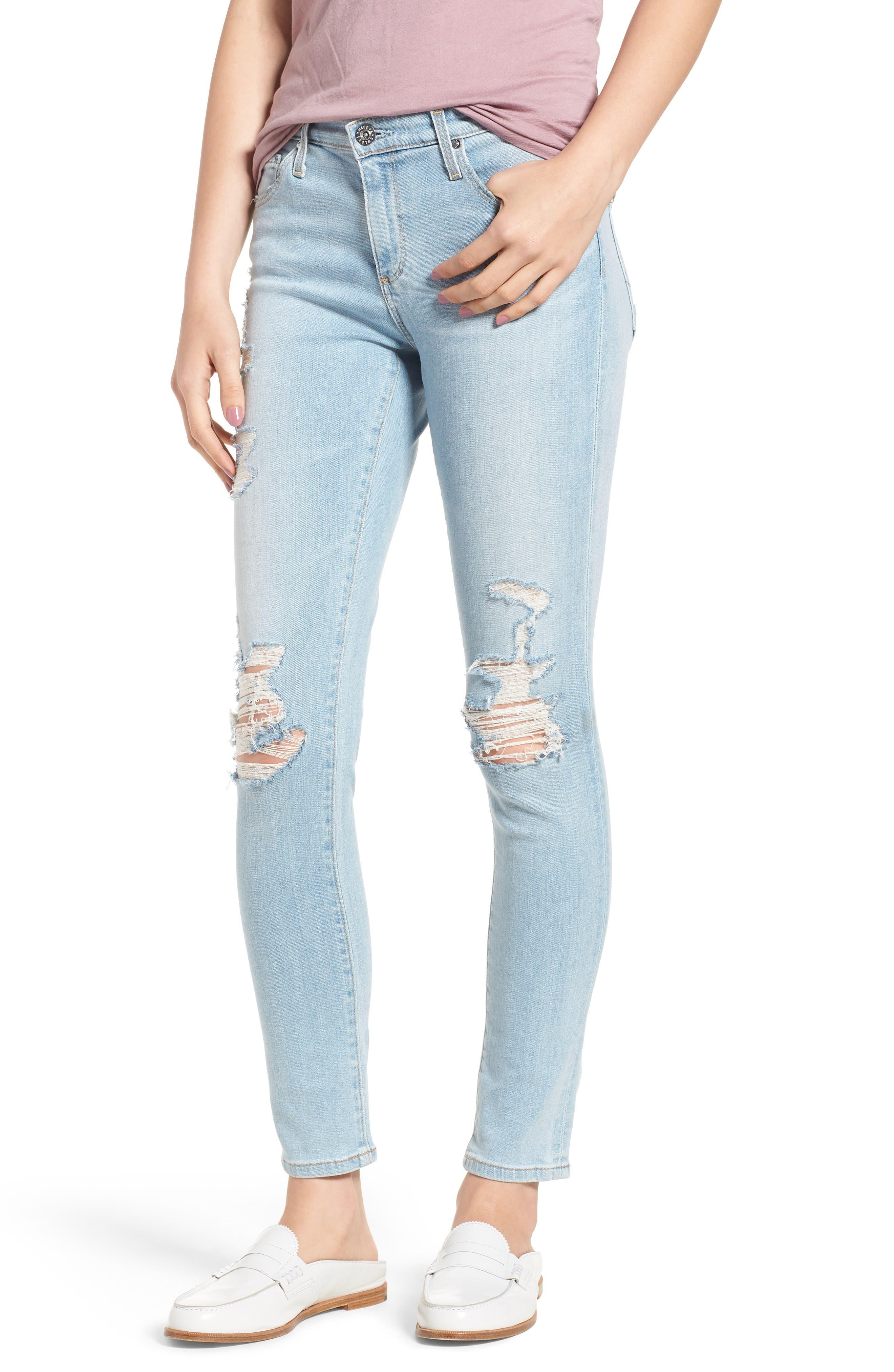 The Legging Ankle Super Skinny Jeans,                             Main thumbnail 14, color,