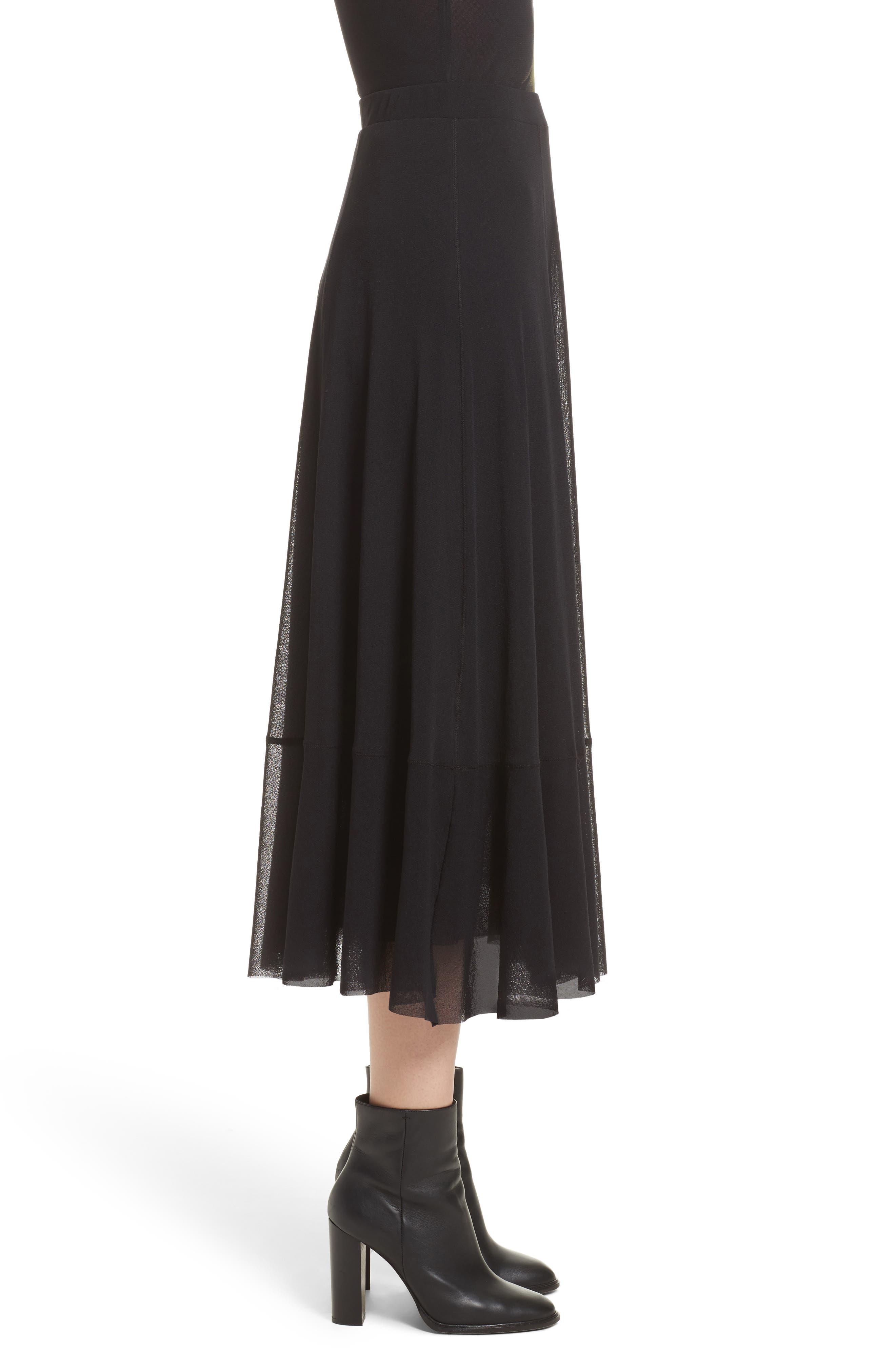 Tulle Midi Skirt,                             Alternate thumbnail 3, color,                             001