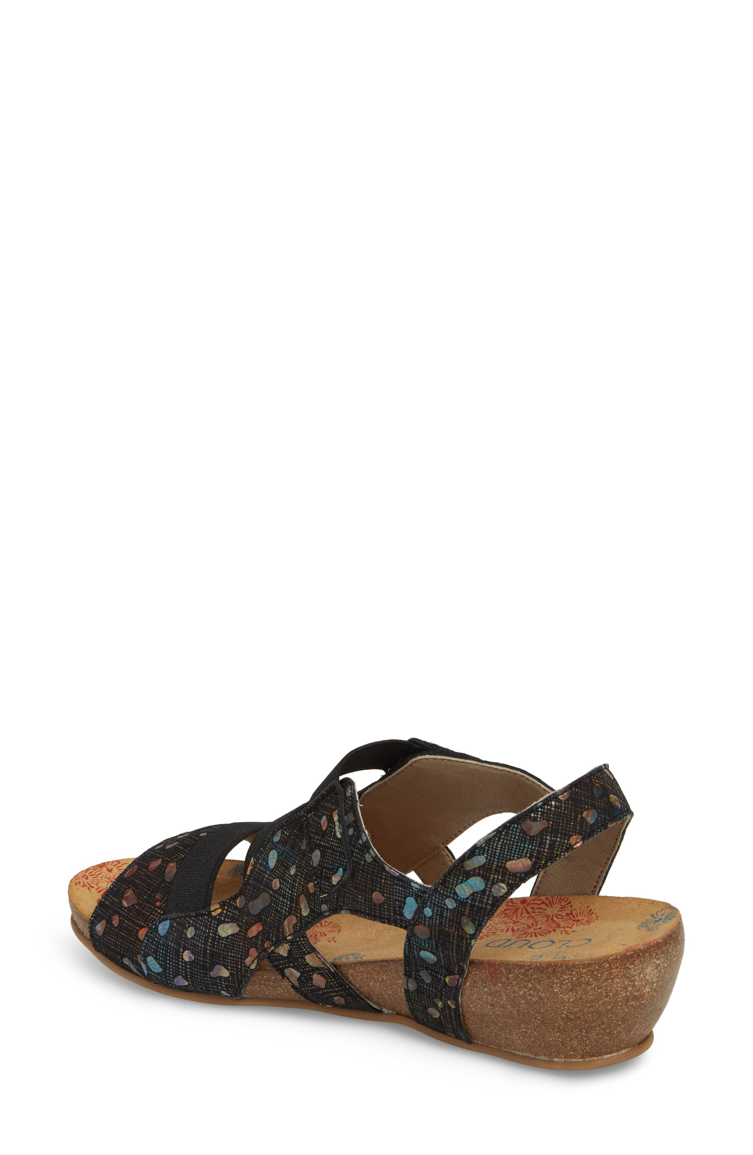 Duffy Wedge Sandal,                             Alternate thumbnail 2, color,                             BUBBLE LEATHER