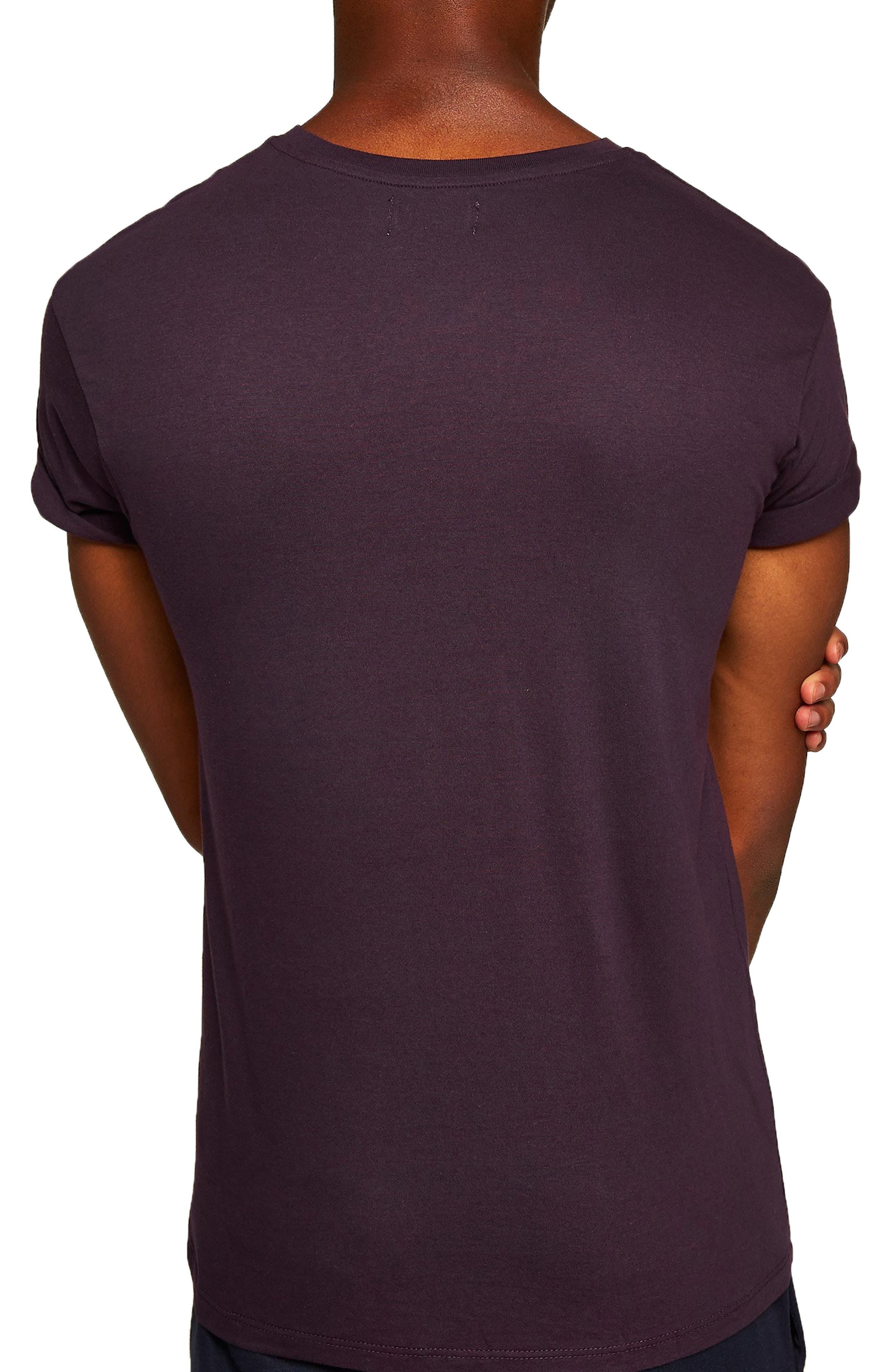 Muscle Fit Roller T-Shirt,                             Alternate thumbnail 2, color,                             PURPLE