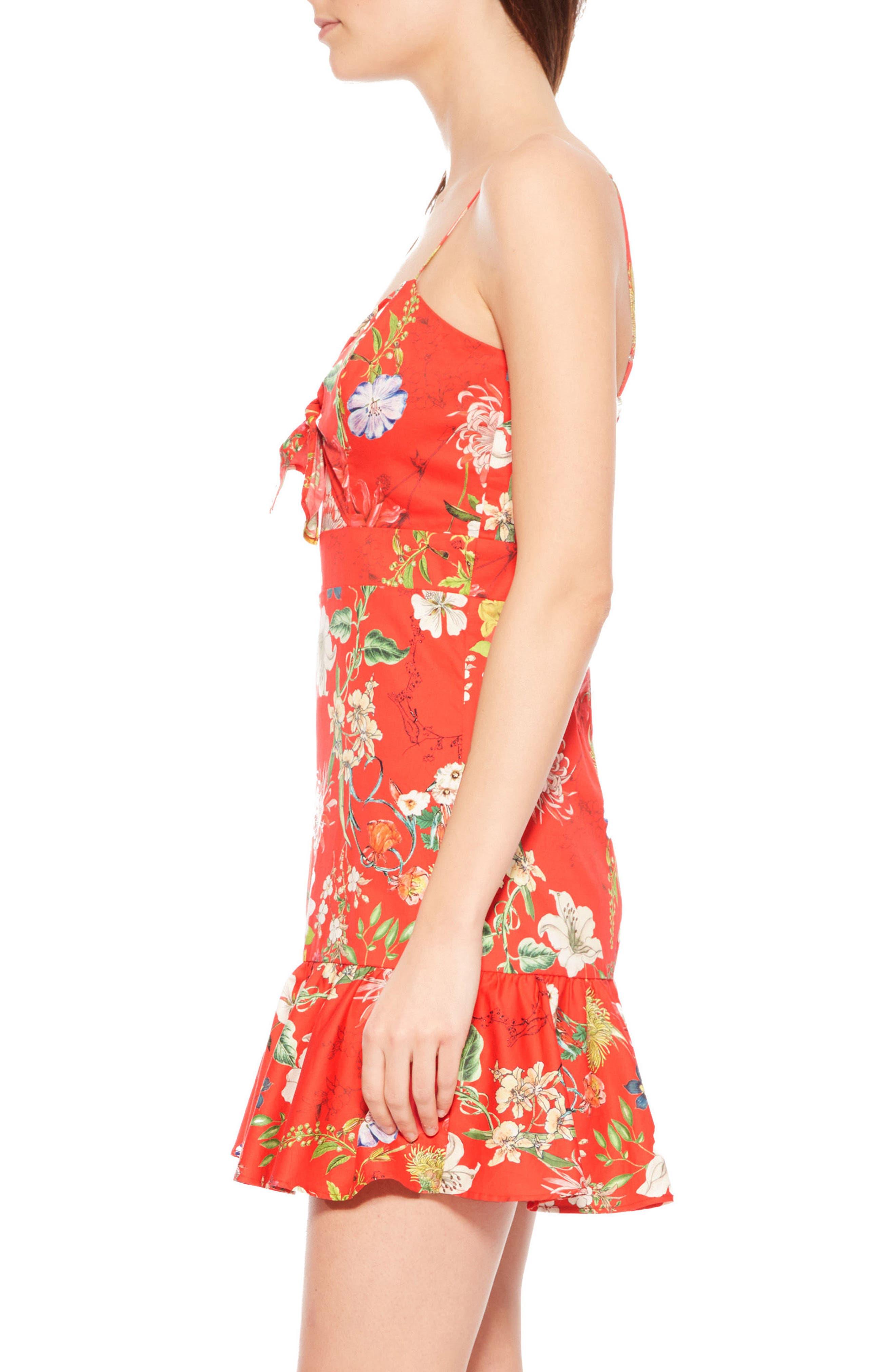 Dany Floral Dress,                             Alternate thumbnail 3, color,                             612