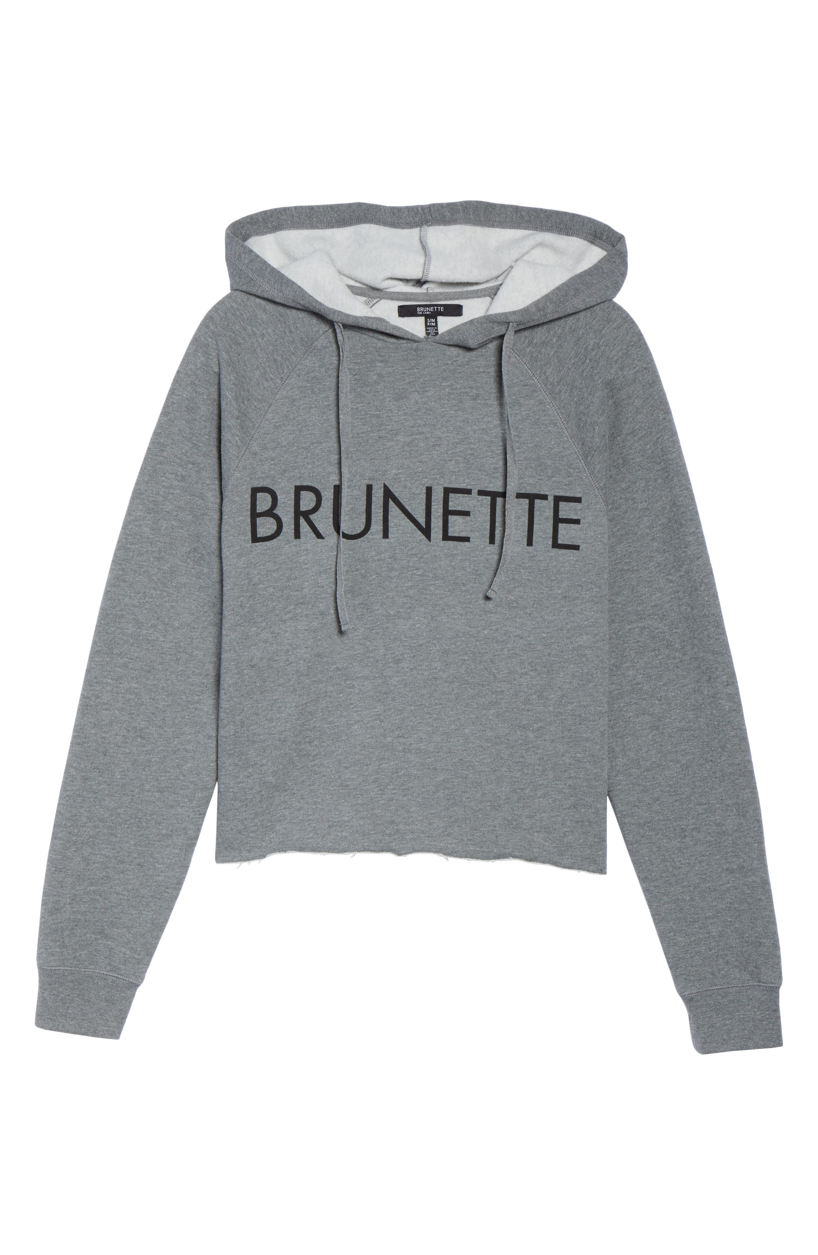 Brunette Raw Hem Hoodie,                             Alternate thumbnail 6, color,                             020