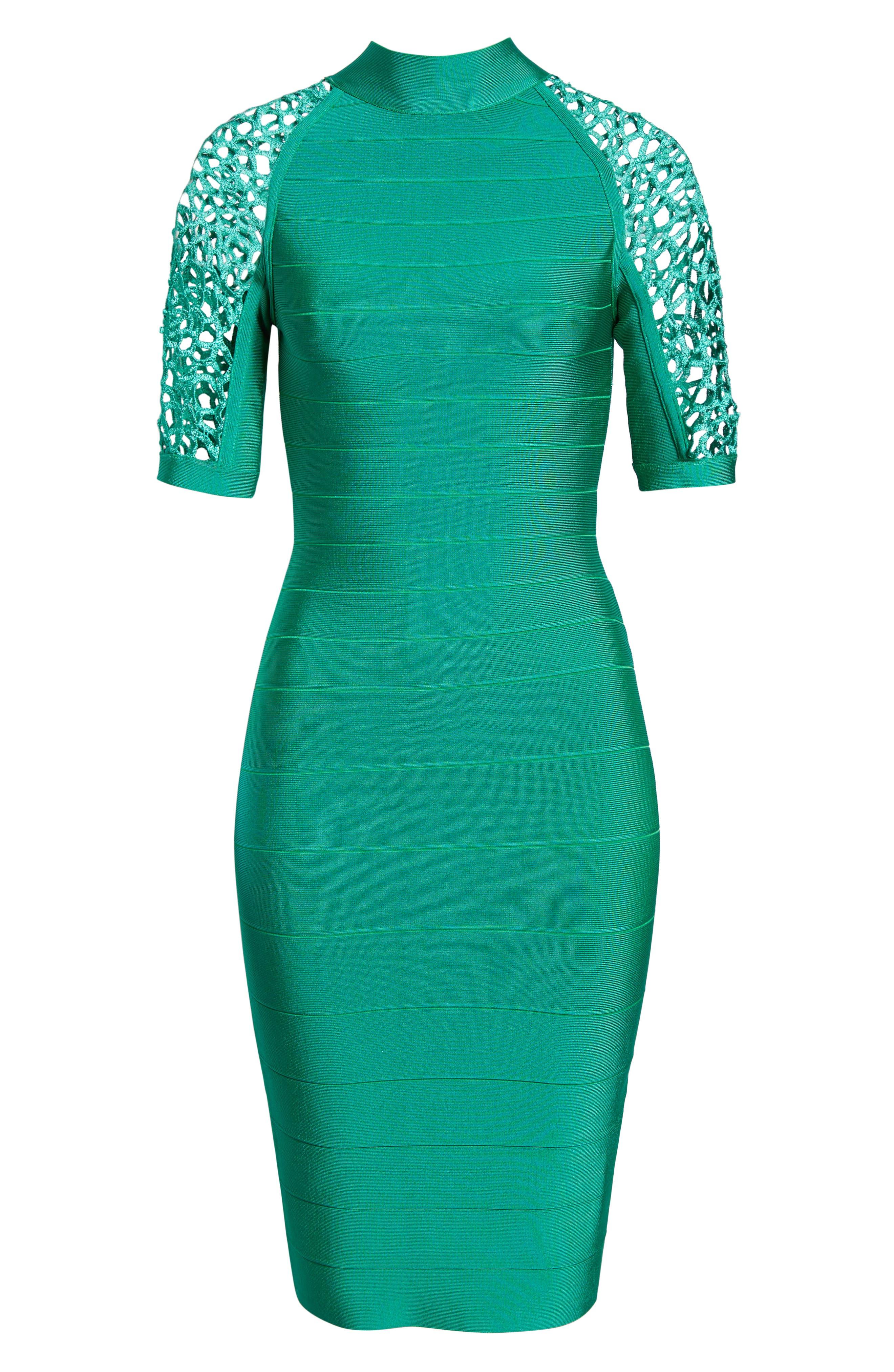 SENTIMENTAL NY,                             Bandage Body-Con Dress,                             Alternate thumbnail 7, color,                             GREEN