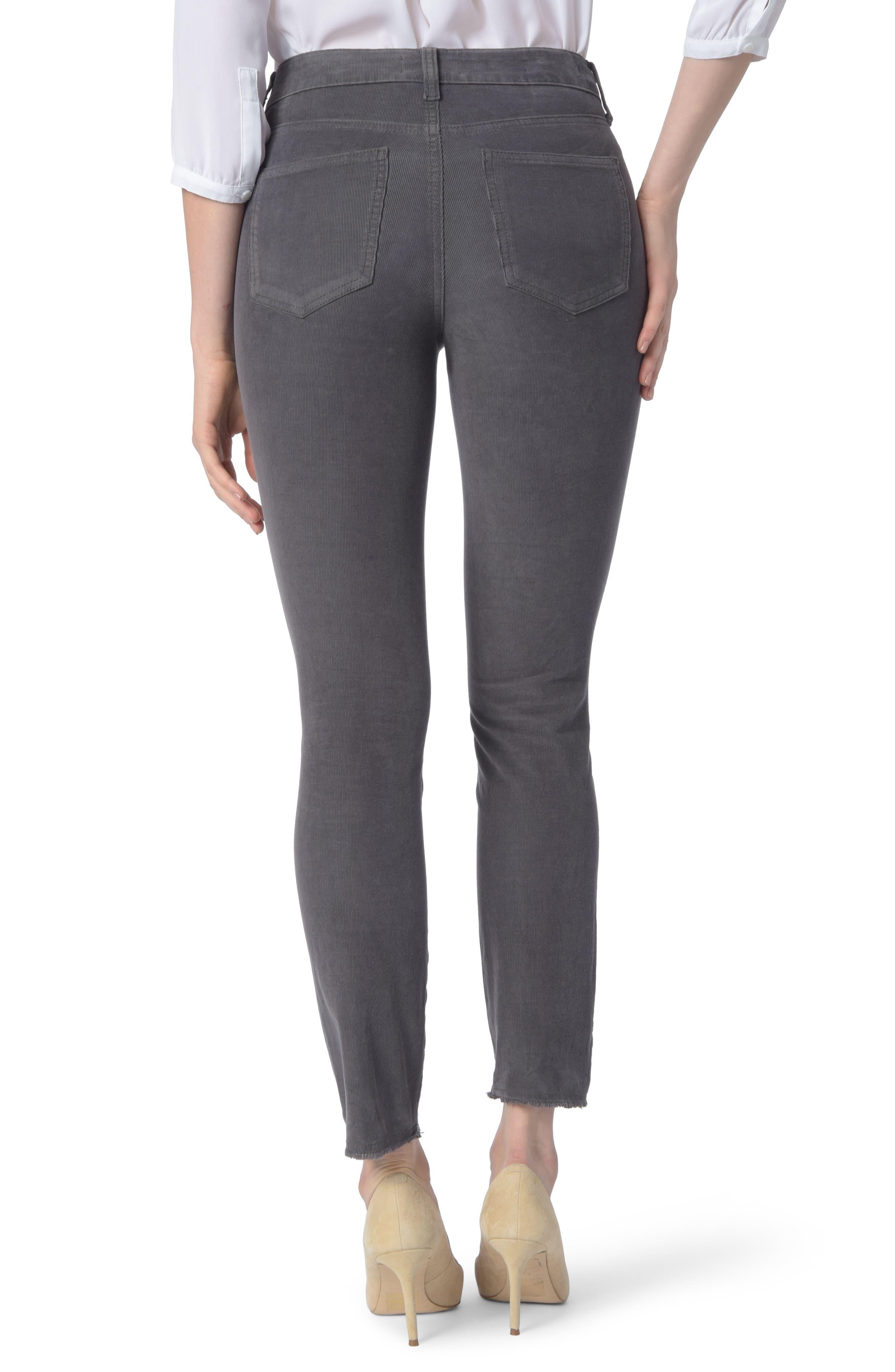 NYDJ,                             Alina Frayed Stretch Corduroy Ankle Jeans,                             Alternate thumbnail 2, color,                             038