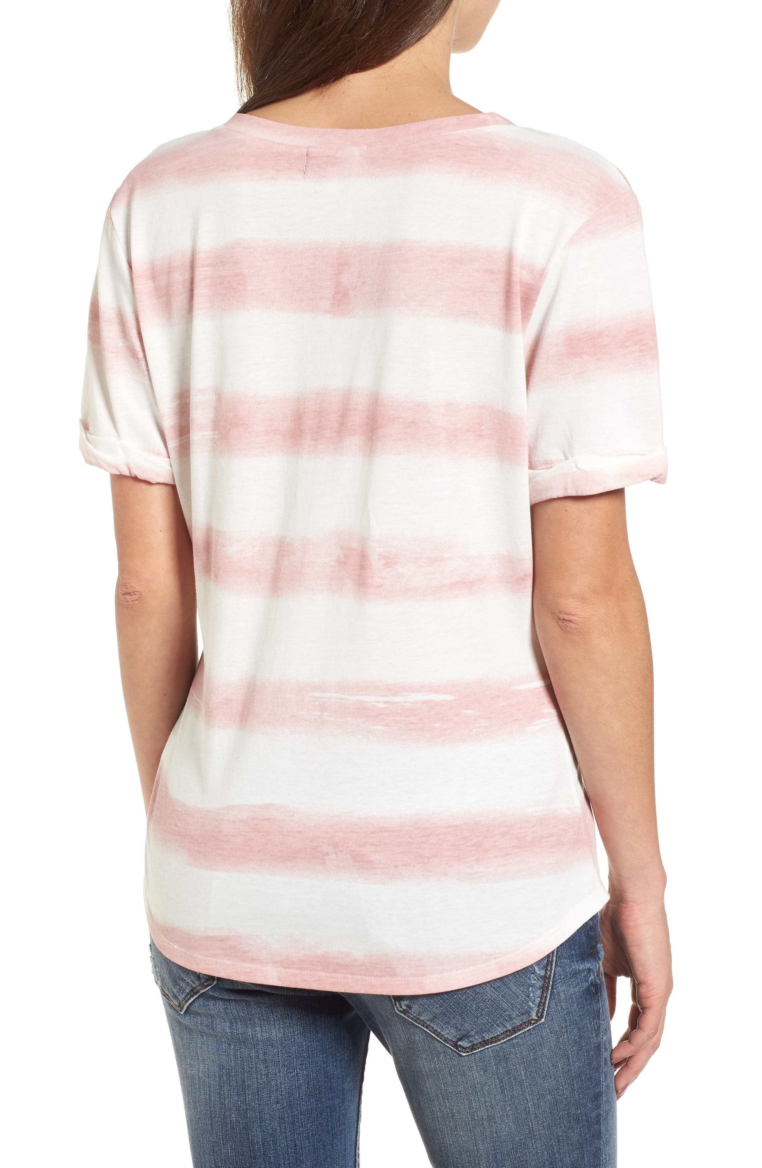 Stripe Roll Sleeve Tee,                             Alternate thumbnail 2, color,                             900