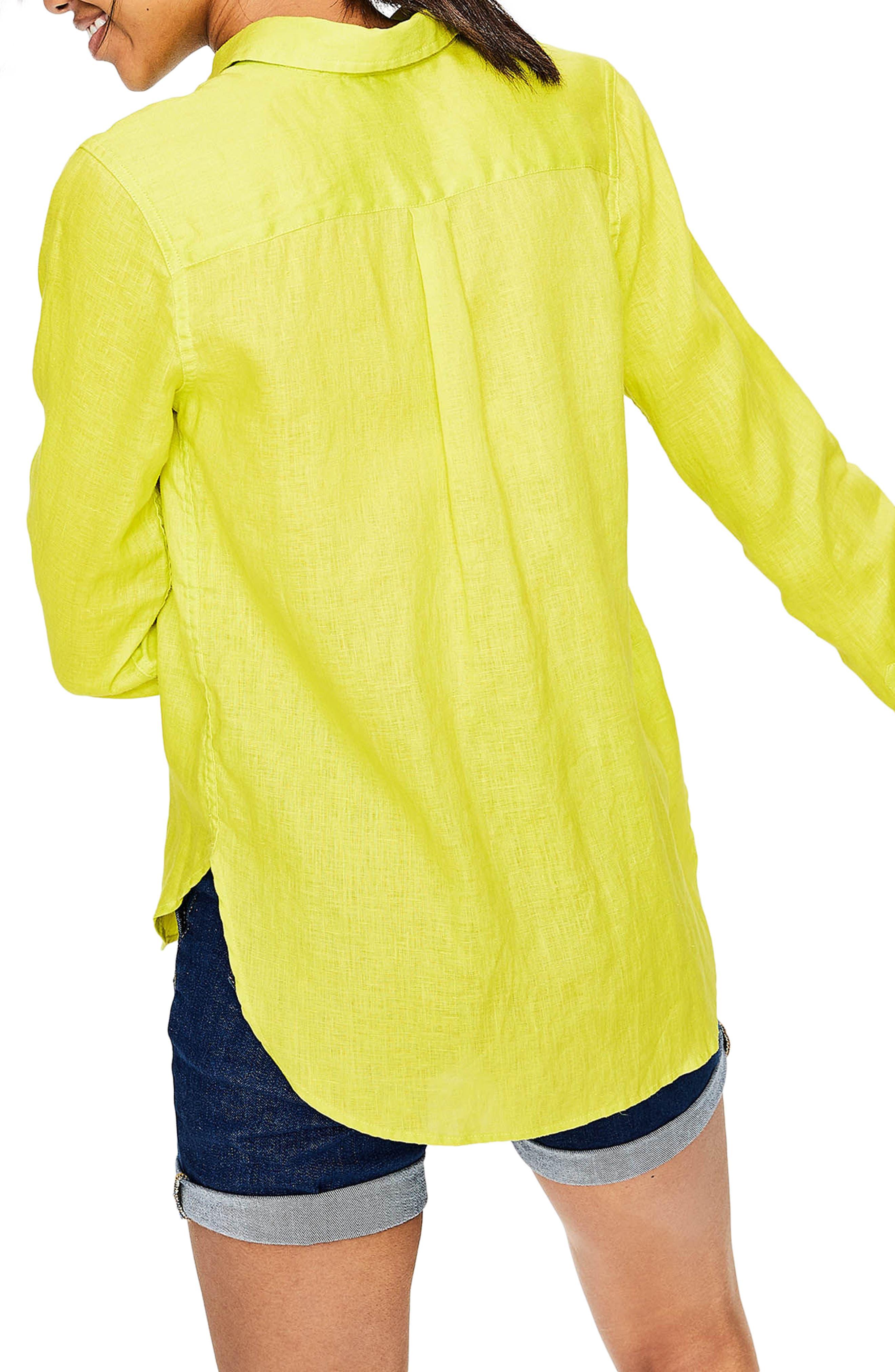 Linen Shirt,                             Alternate thumbnail 4, color,