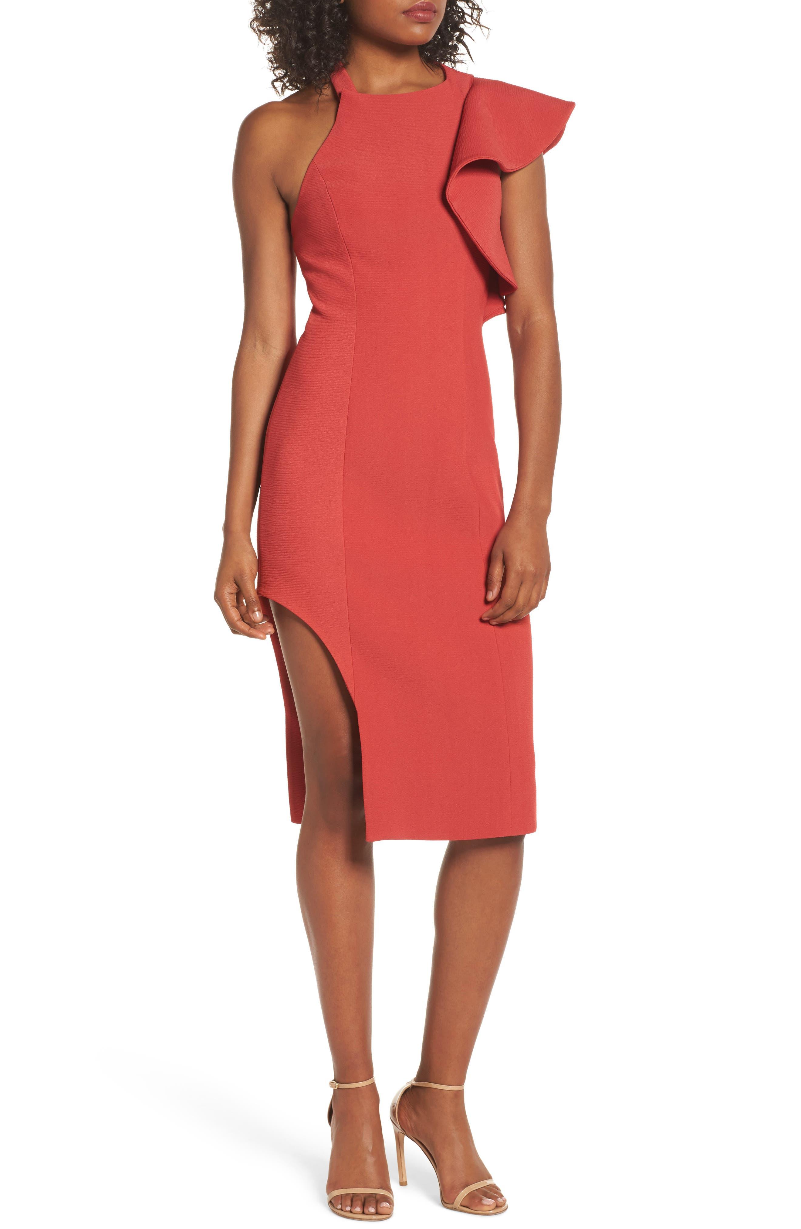 Infinite Asymmetrical Dress,                             Main thumbnail 1, color,                             621