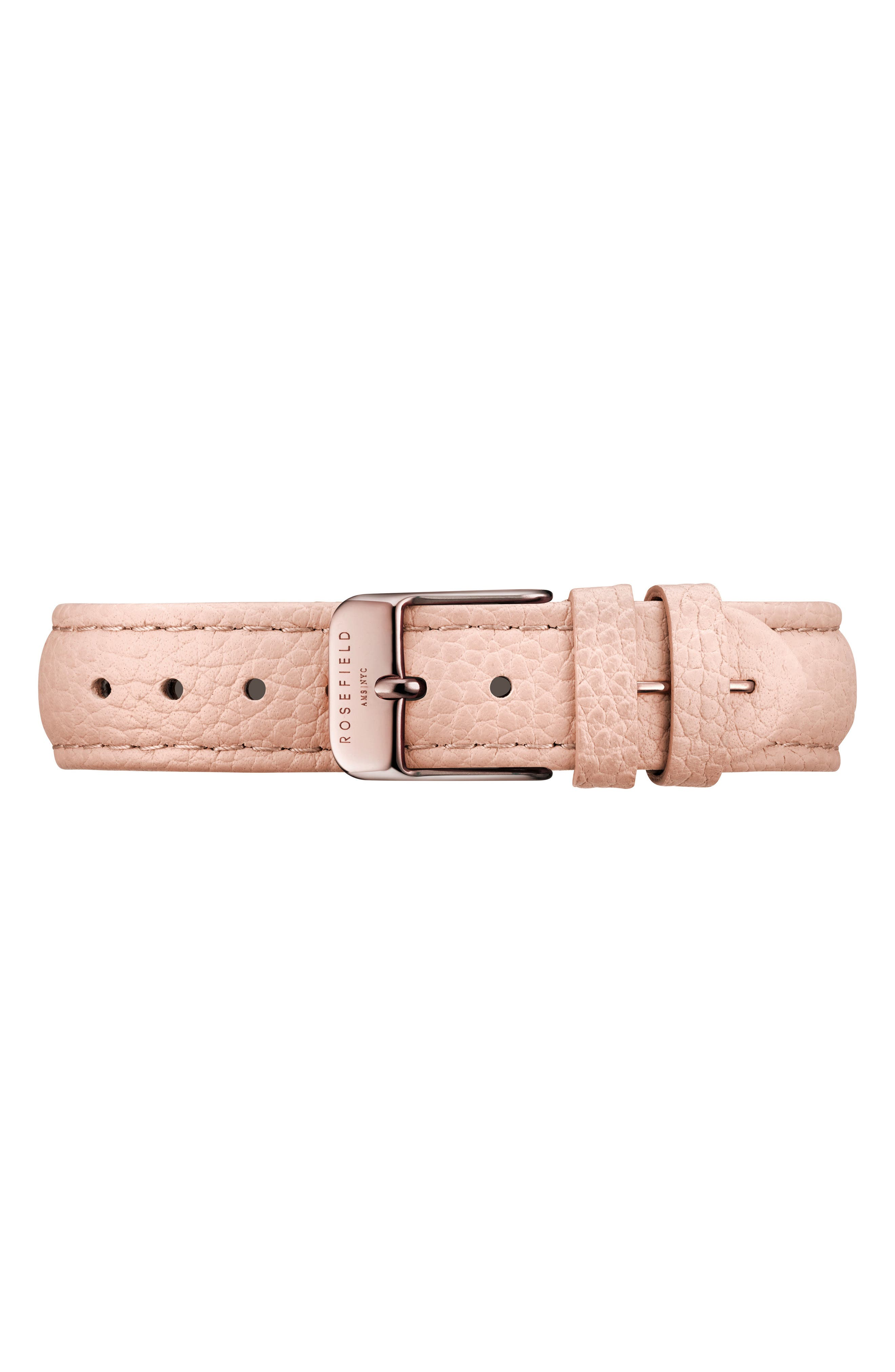 The September Issue Leather Strap Watch, 33mm,                             Alternate thumbnail 2, color,                             SOFT PINK/ ROSE GOLD