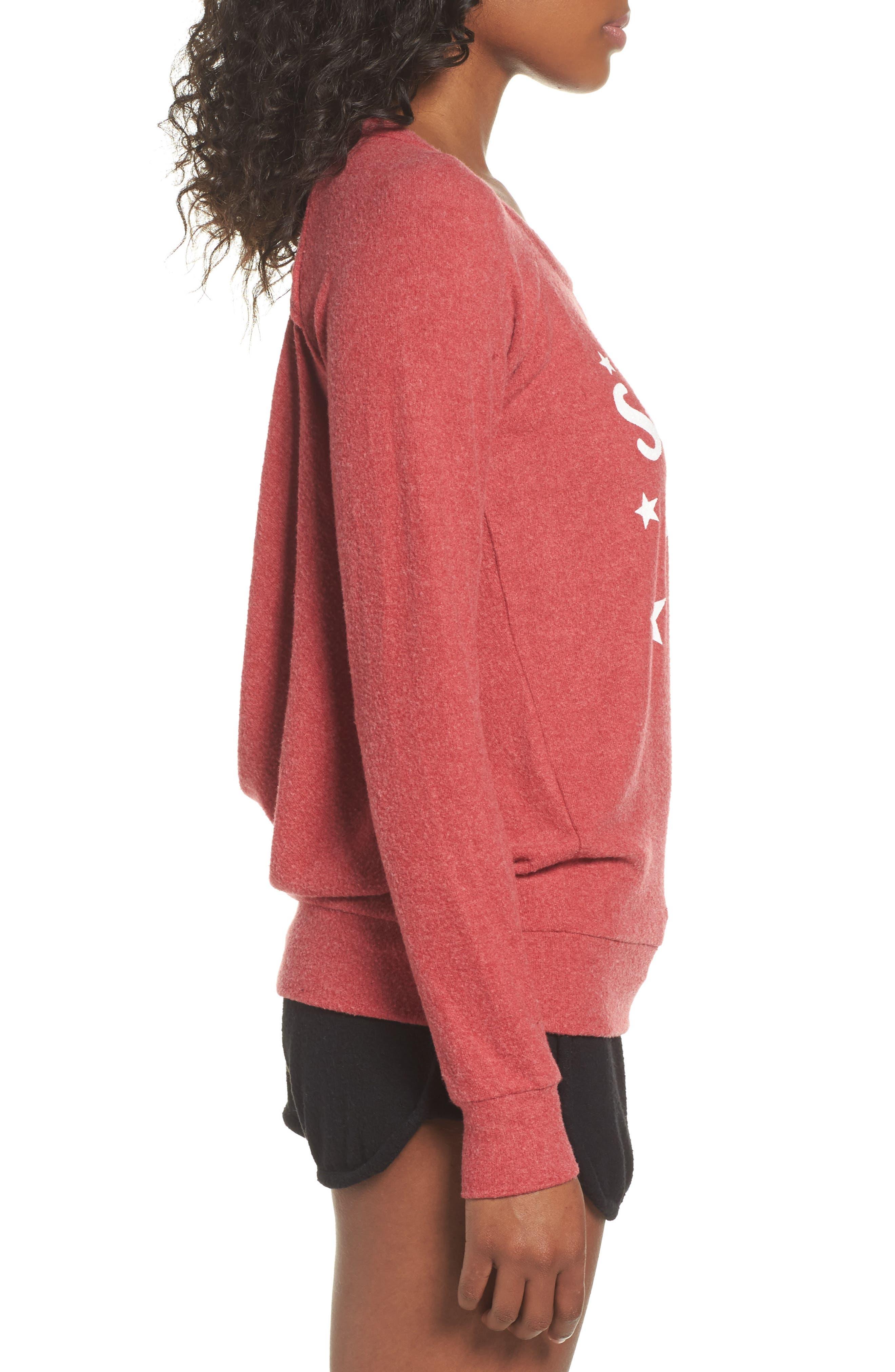 Love Saturday Drape Back Pullover,                             Alternate thumbnail 3, color,