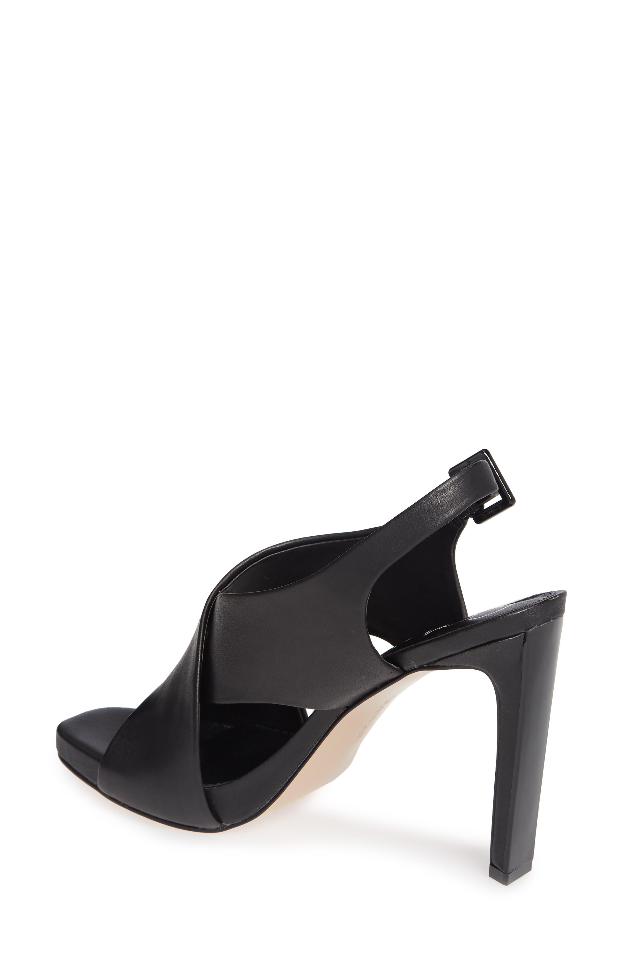 Myra Cross Strap Sandal,                             Alternate thumbnail 2, color,                             BLACK LEATHER