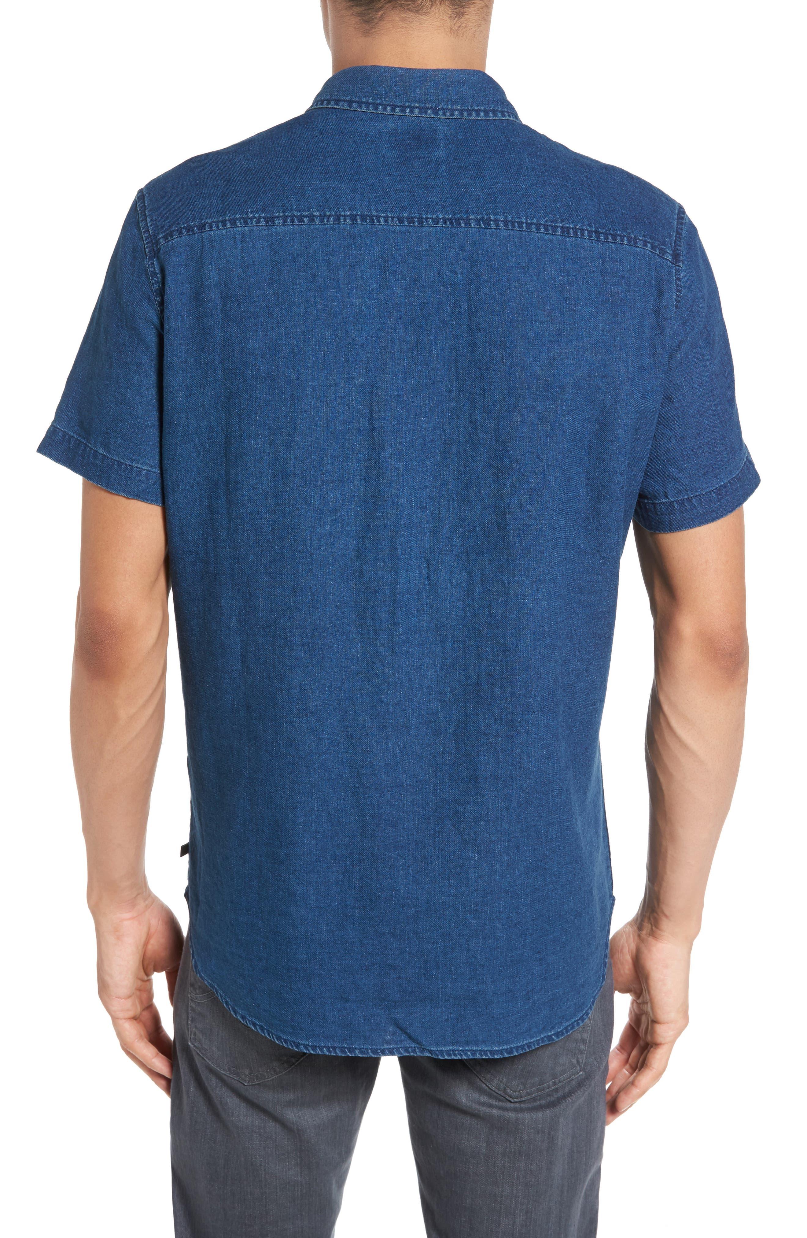 Nash Slim Fit Linen & Cotton Sport Shirt,                             Alternate thumbnail 2, color,                             404