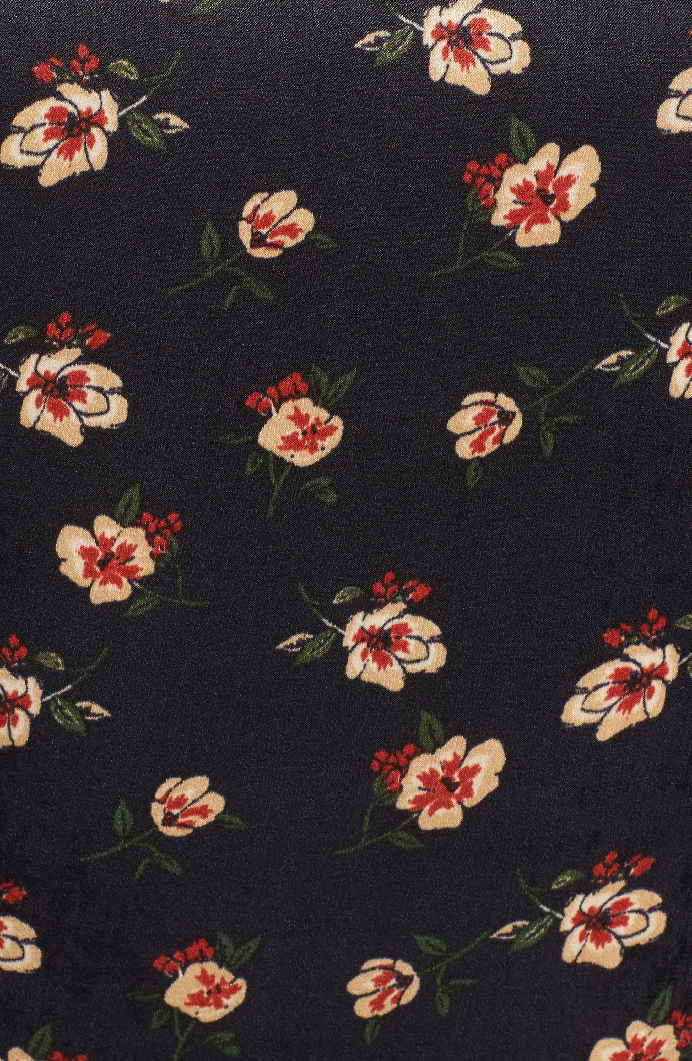 Floral Wrap Top,                             Alternate thumbnail 5, color,                             498