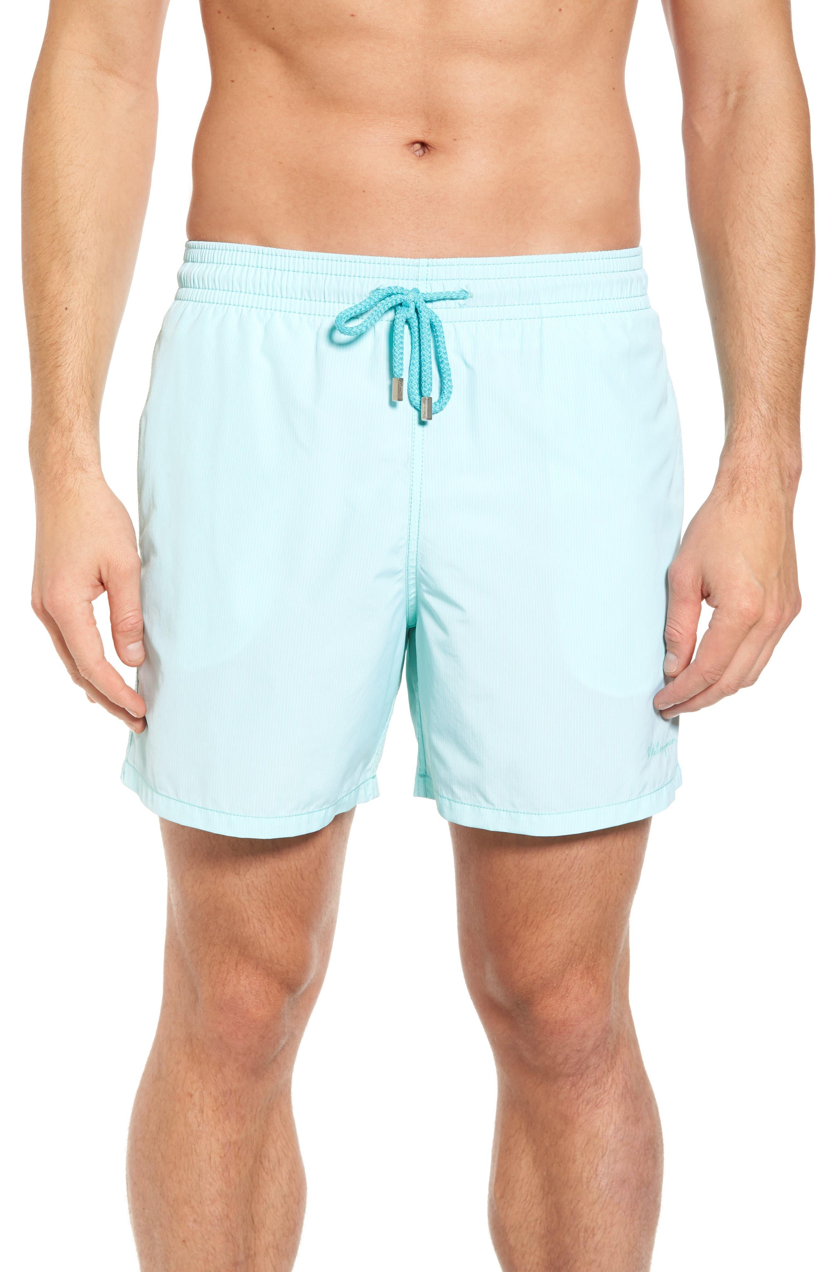 Microstripes Swim Trunks,                         Main,                         color, LAGOON