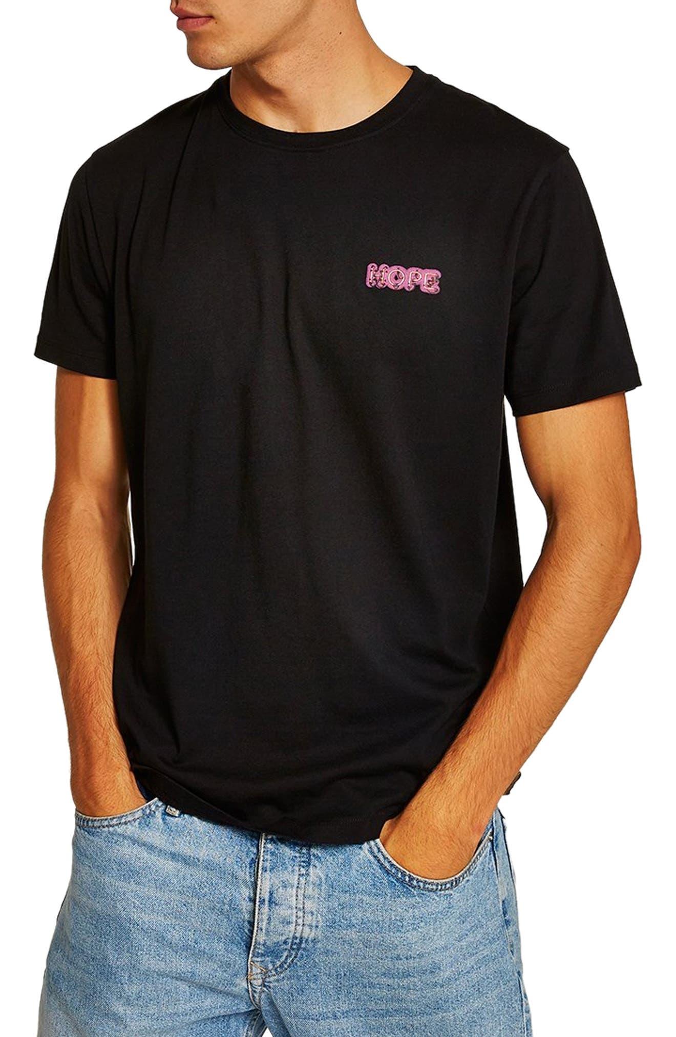 Still Hope Classic Fit T-Shirt,                             Main thumbnail 1, color,                             BLACK MULTI